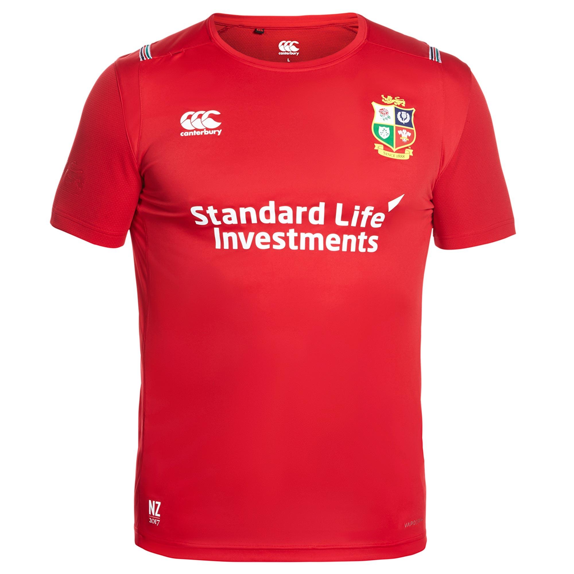 British & Irish Lions Vapodri+ Superlight Small Logo T-Shirt - Tango R