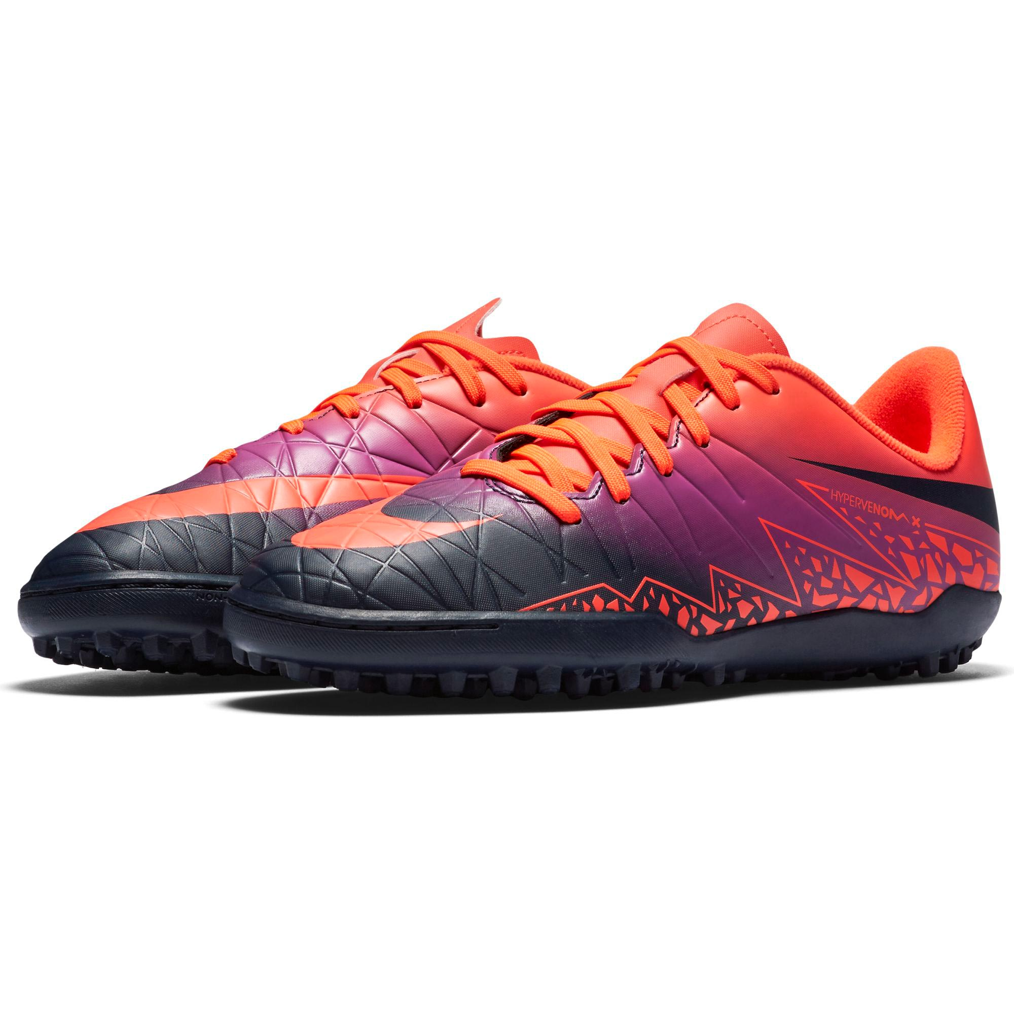 57e174cf532d Nike Hypervenom Phelon II Floodlights Astroturf Kids Football Boots Red  Image