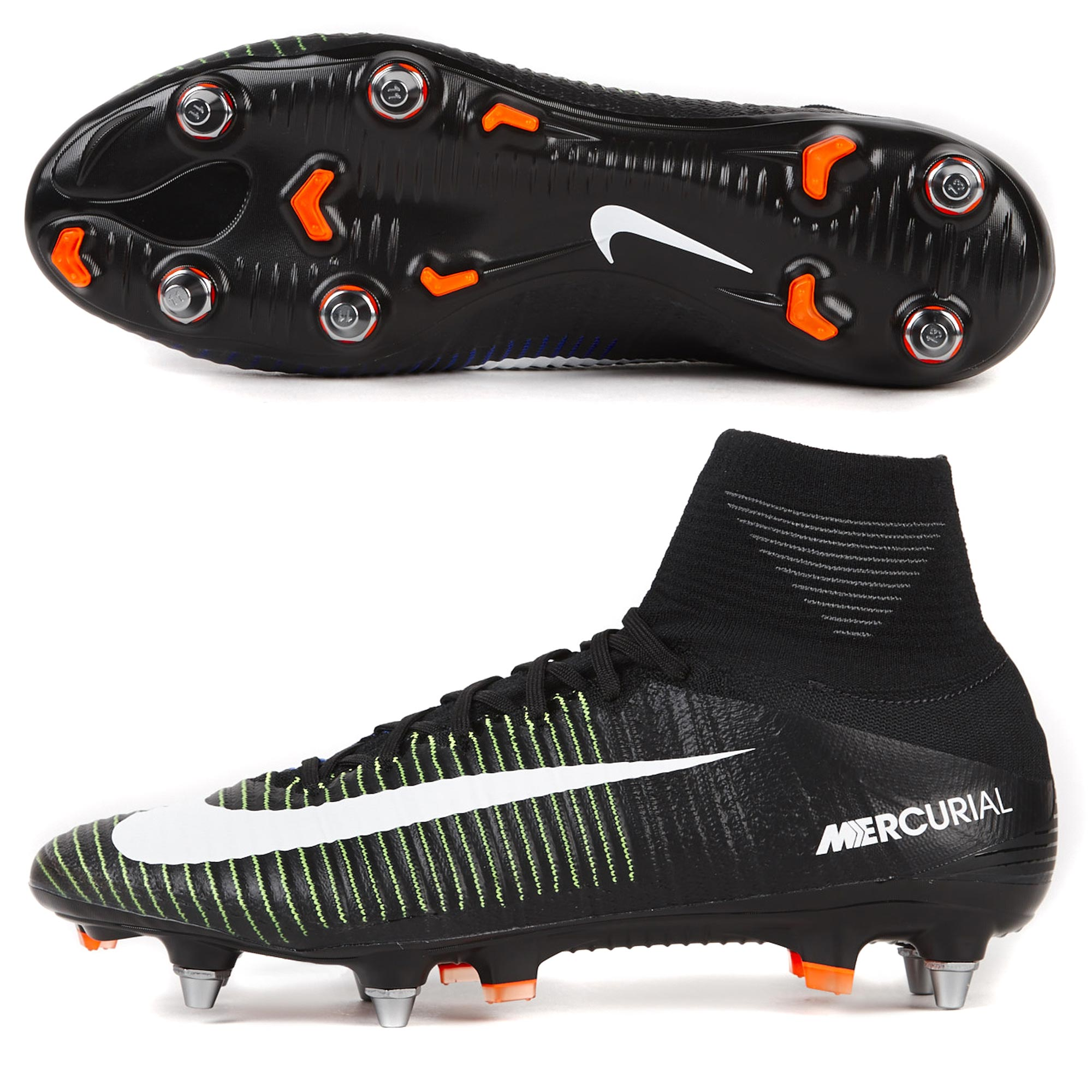 Nike Mercurial Superfly V SG Pro Black/White
