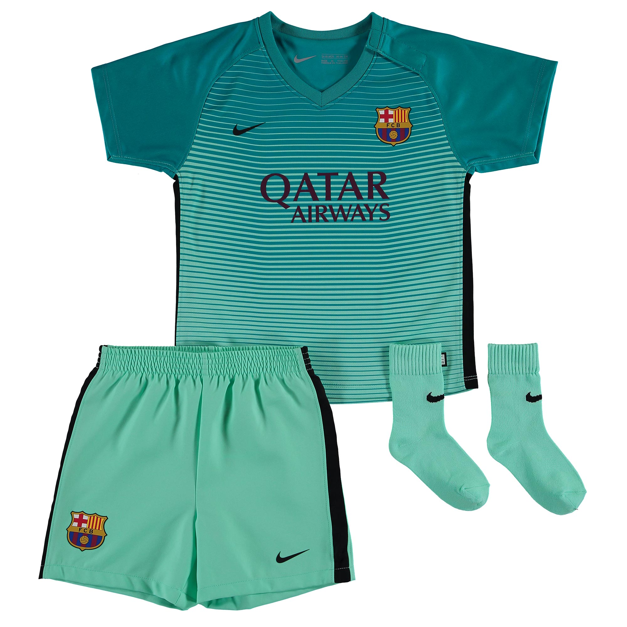 the latest 74aaf 30b55 Nike Barcelona Baby SS Third Mini Kit 2016/17