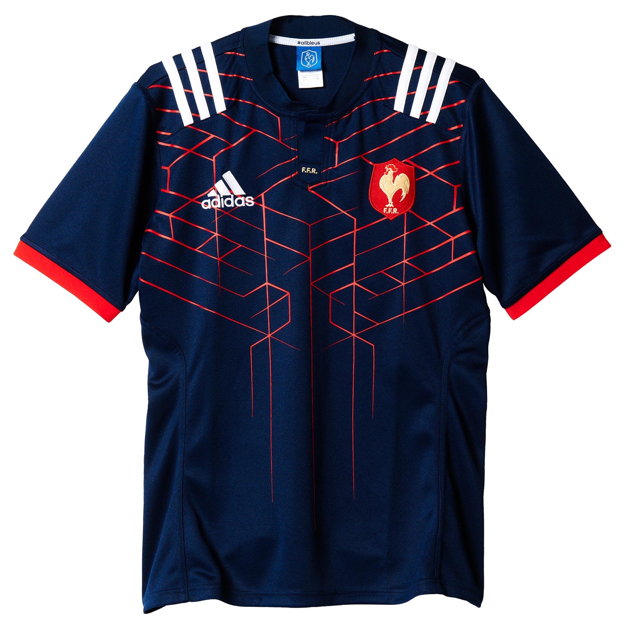 adidas FFR Home JSY Camiseta, Hombre, Azul (Maruni/Blanco), 2XL