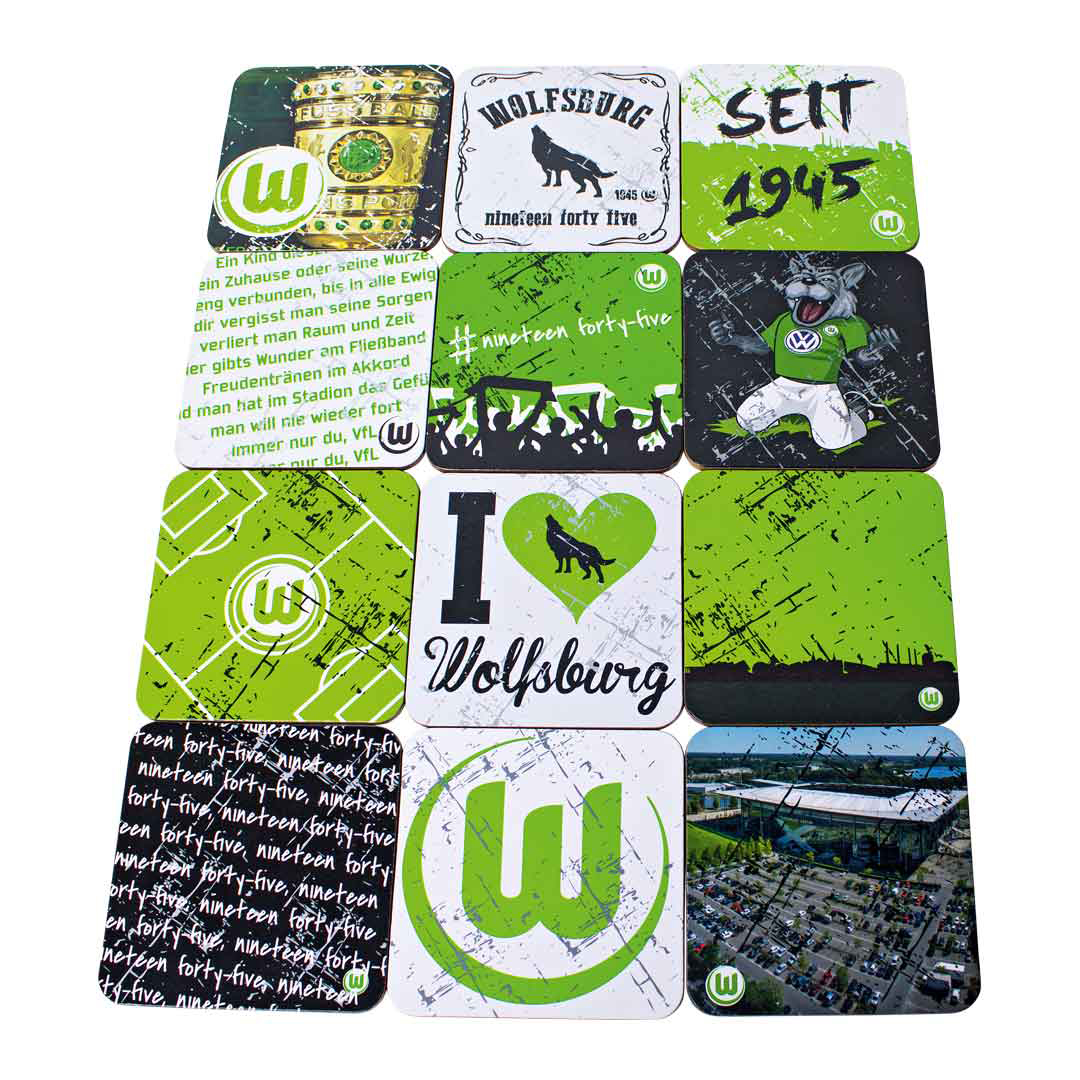 VfL Wolfsburg Cork Coaster Set