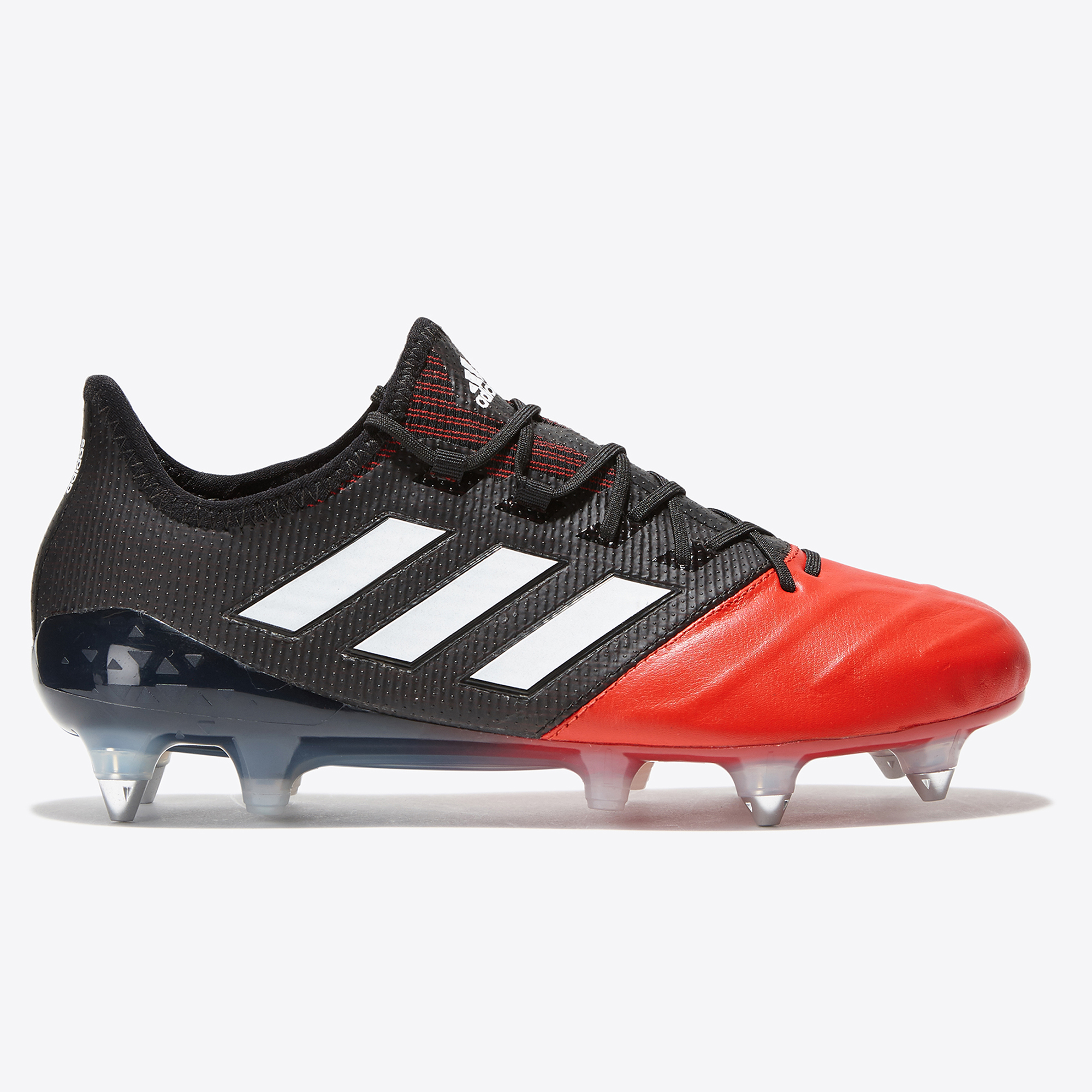 Image of adidas Ace 17.1 Leather Soft Ground Football Boots - Core Black/White/
