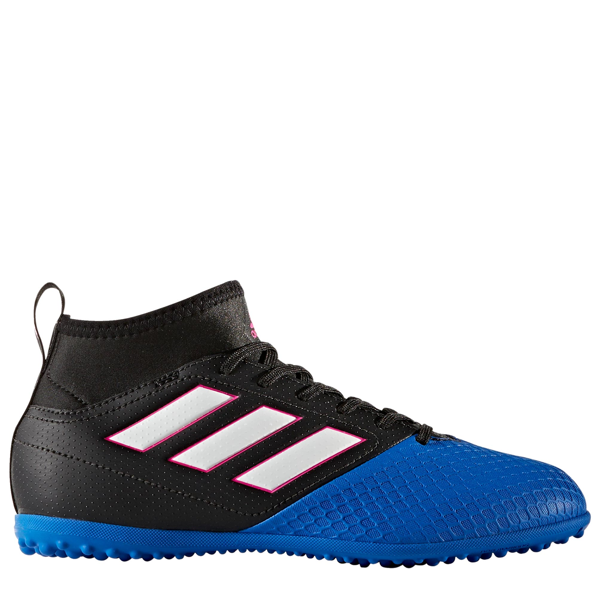 adidas Ace 17.3 Astroturf Trainers - Core Black/White/Blue - Kids