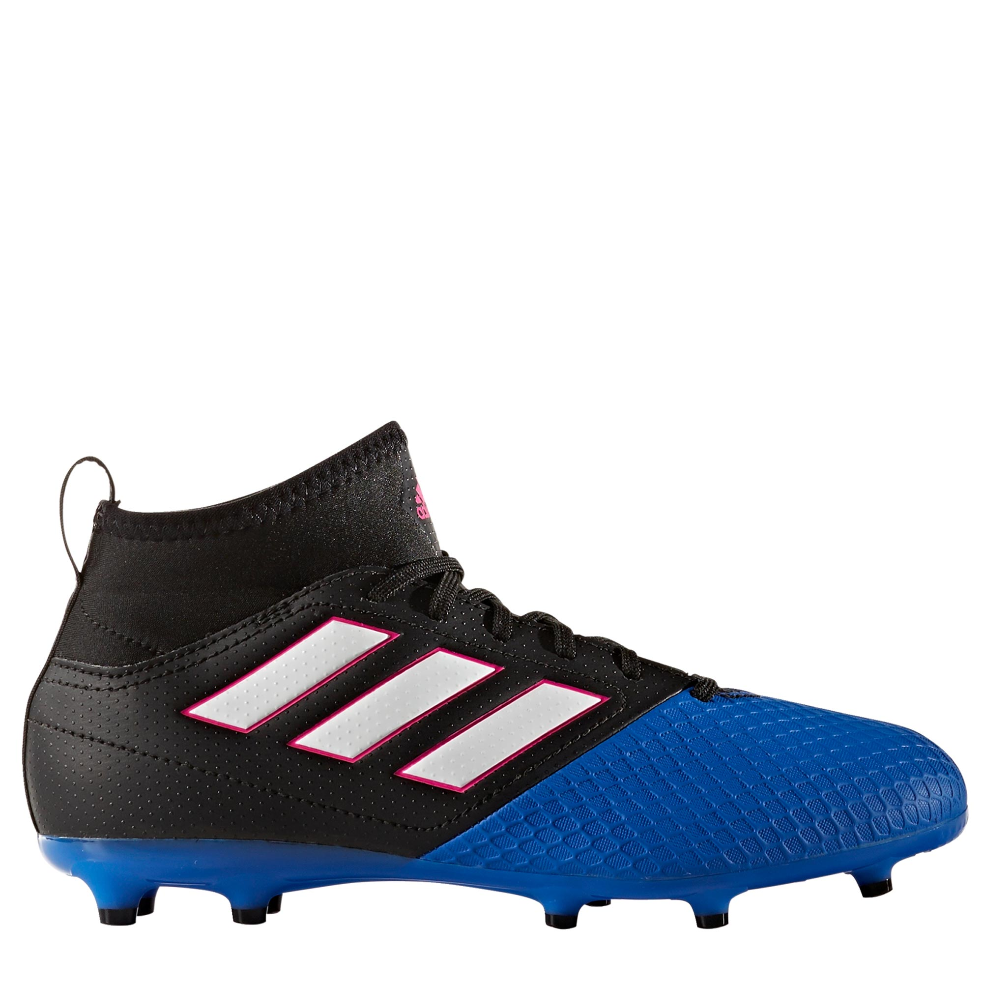 adidas Ace 17.3 Firm Ground Football Boots - Core Black/White/Blue - K
