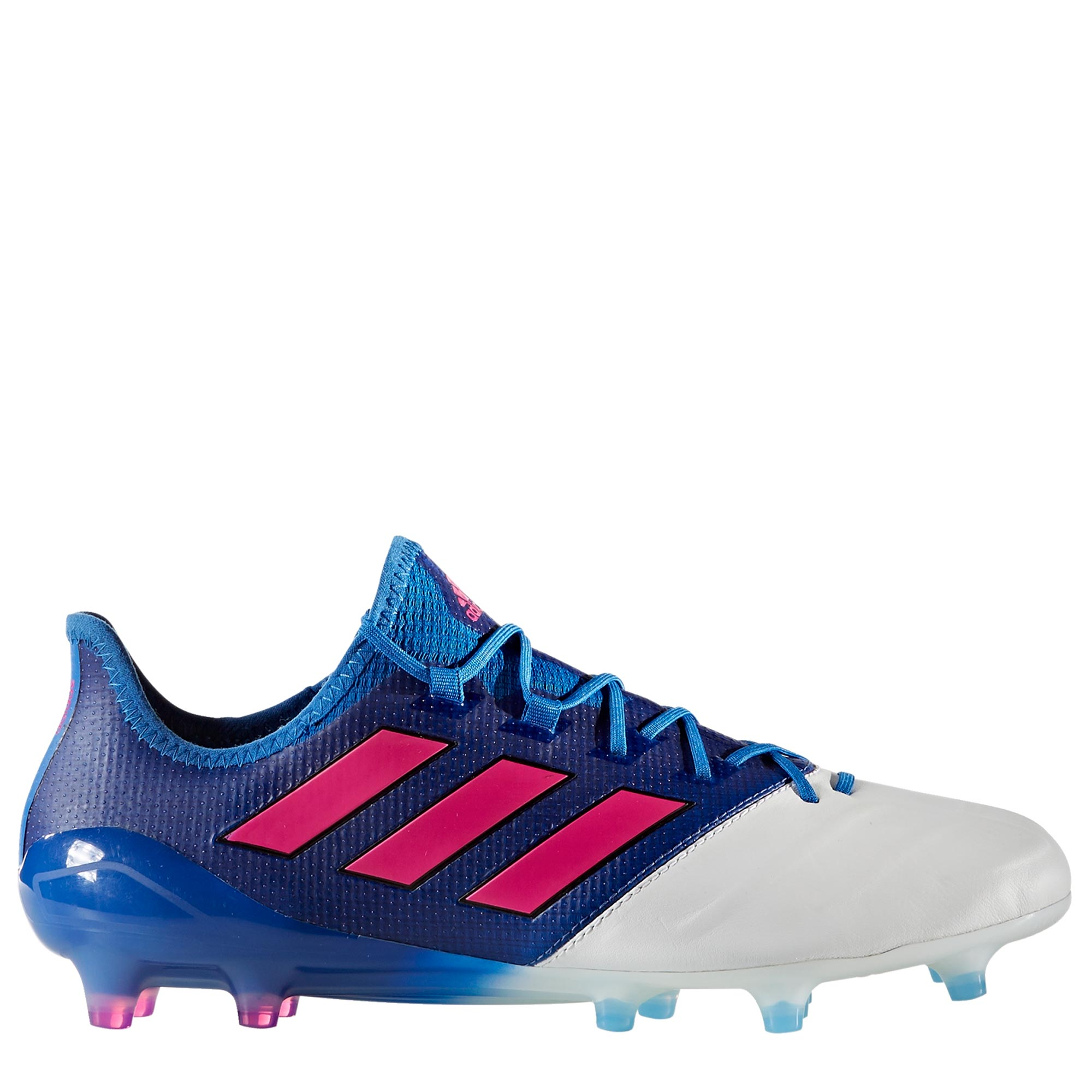 adidas Ace 17.1 Leather Firm Ground Football Boots - Blue/Shock Pink/W