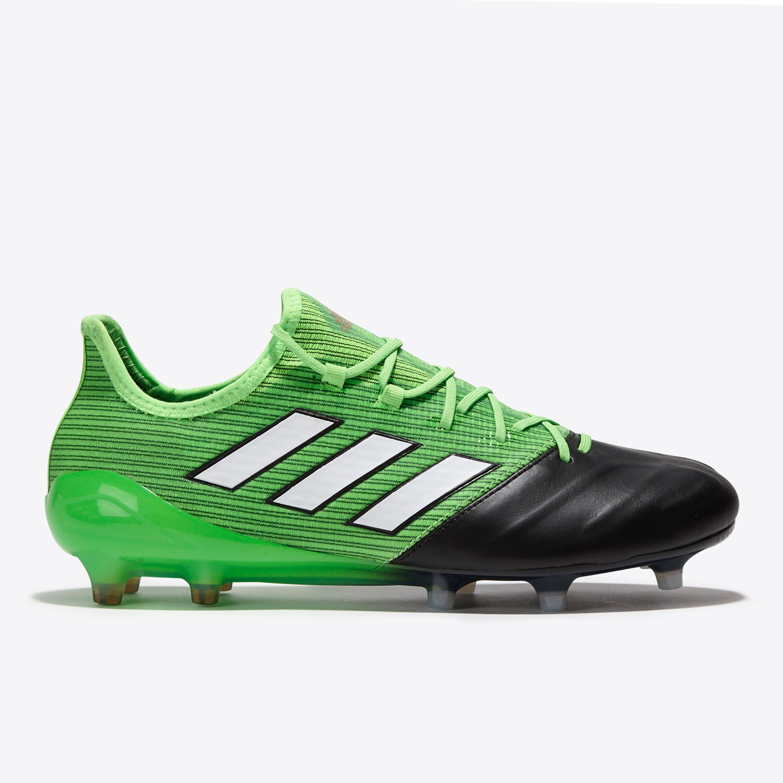 hot sale online dbe12 dd05a adidas Ace 17.1 Leather Turbocharge Pack FG Football Boots Green