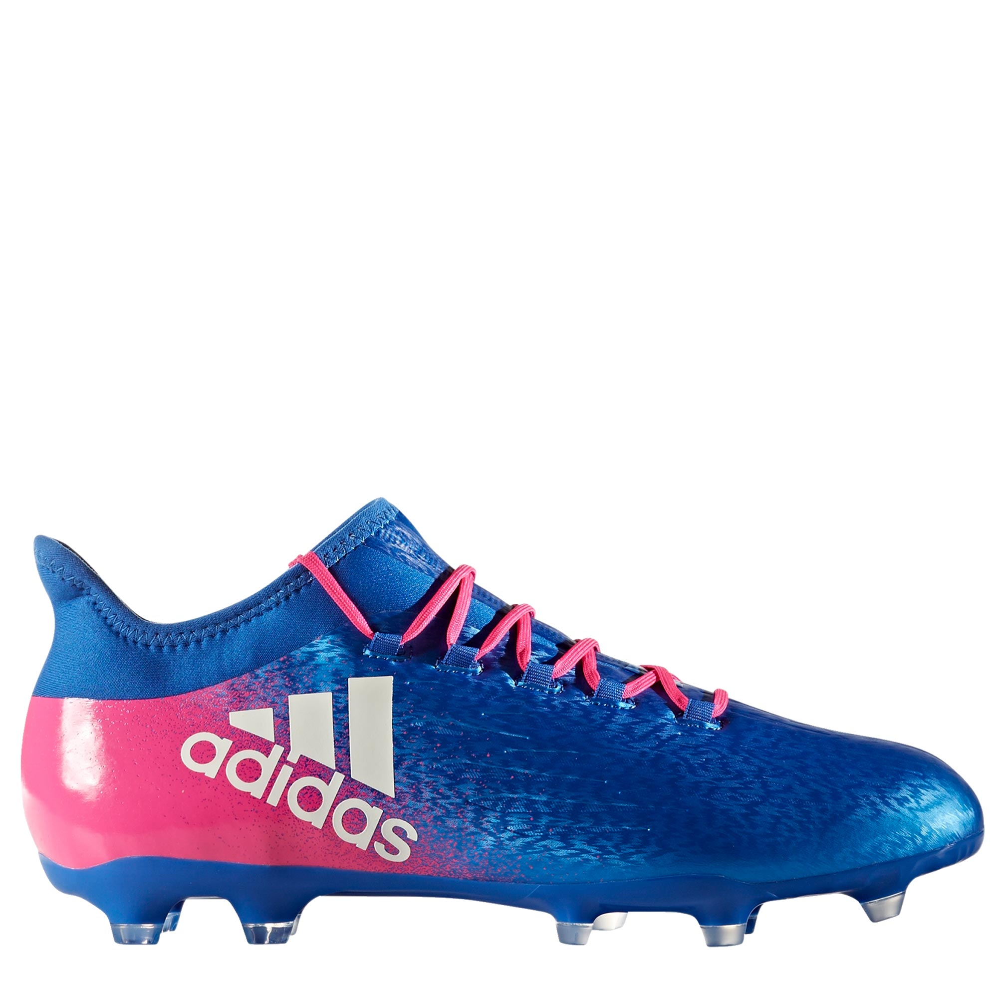 adidas X 16.2 Firm Ground Football Boots - Blue/White/Shock Pink