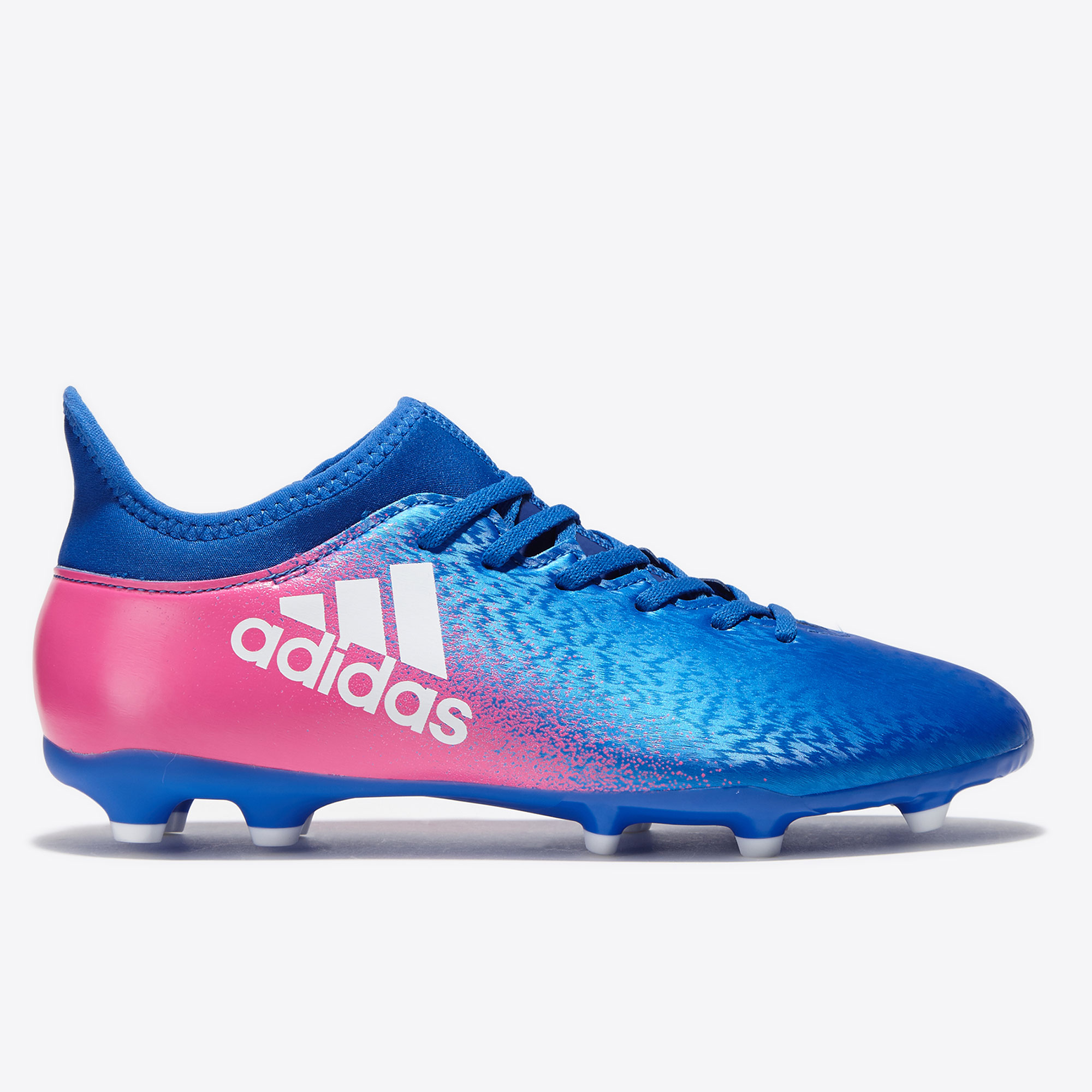 adidas X 16.3 Firm Ground Football Boots - Blue/White/Shock Pink - Kid