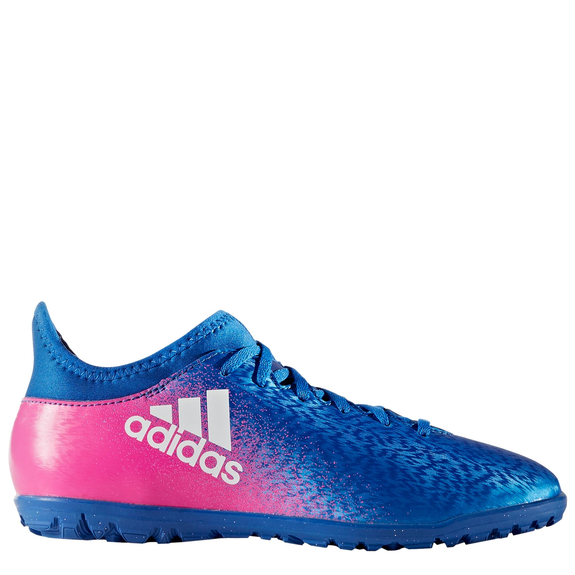 adidas X 16.3 Astroturf Trainers - Blue/White/Shock Pink - Kids