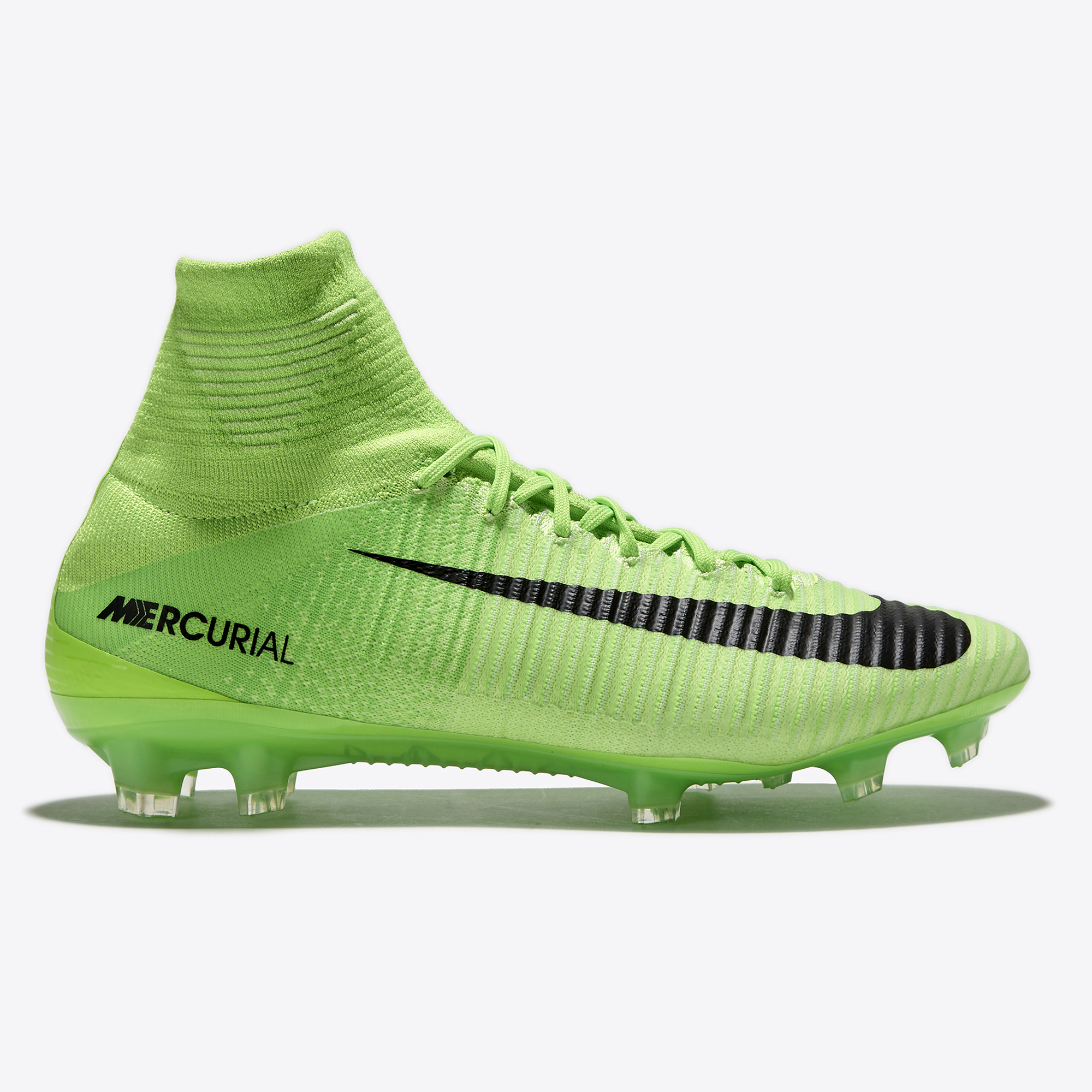 Nike Mercurial Superfly V Firm Ground Football Boots - Electric Green/