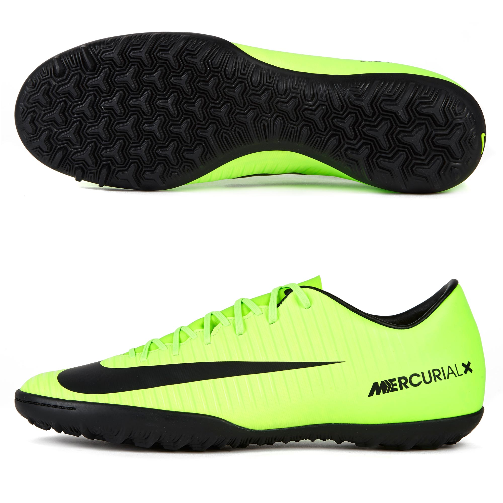 Nike Mercurial Victory VI Astroturf Trainers - Electric Green/Black/Fl