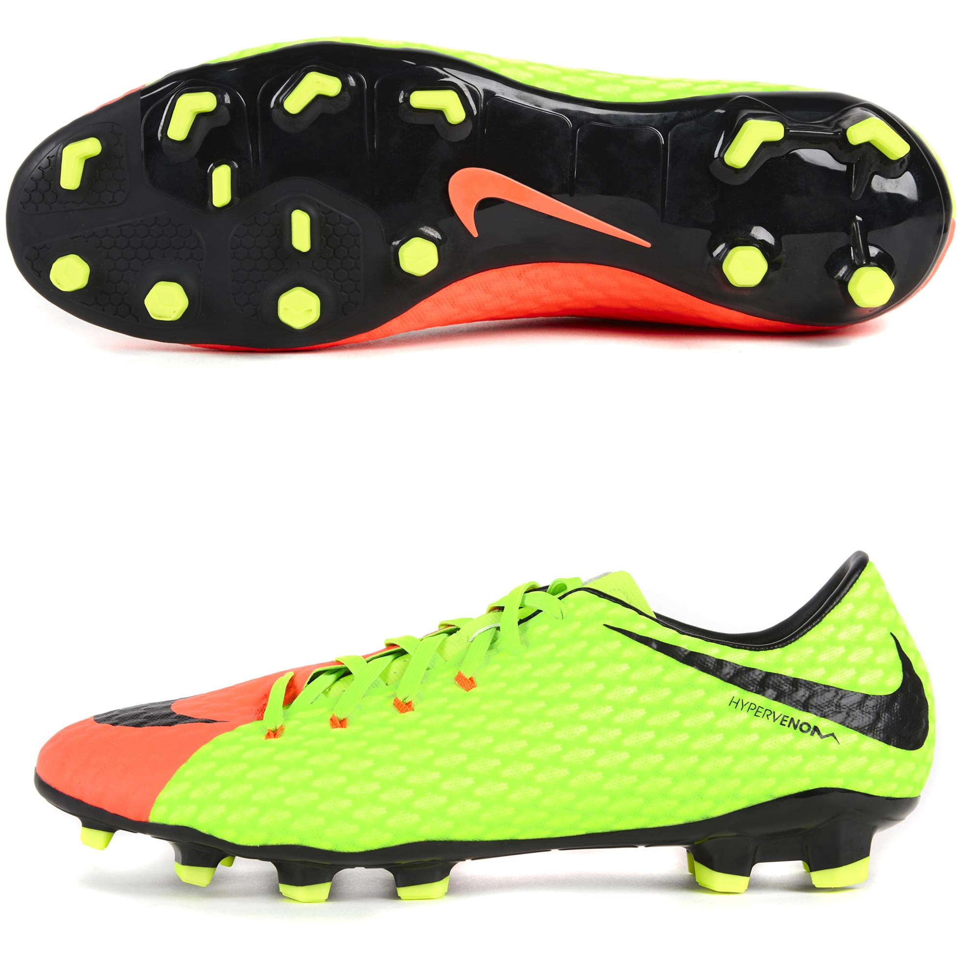 Nike Hypervenom Phinish II Firm Ground Football Boots - Electric Green