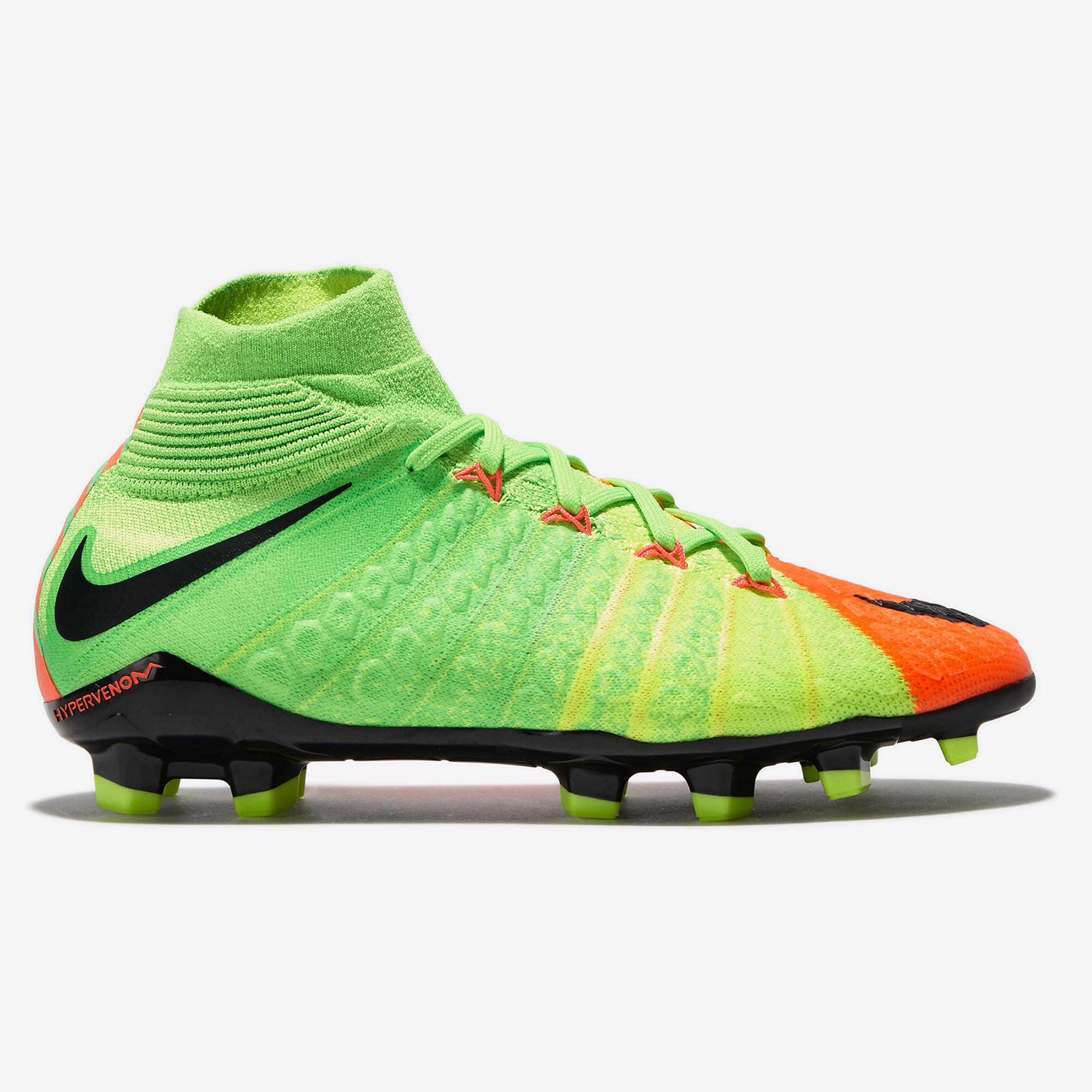 Nike Hypervenom Phantom III Firm Ground Football Boots - Electric Gree