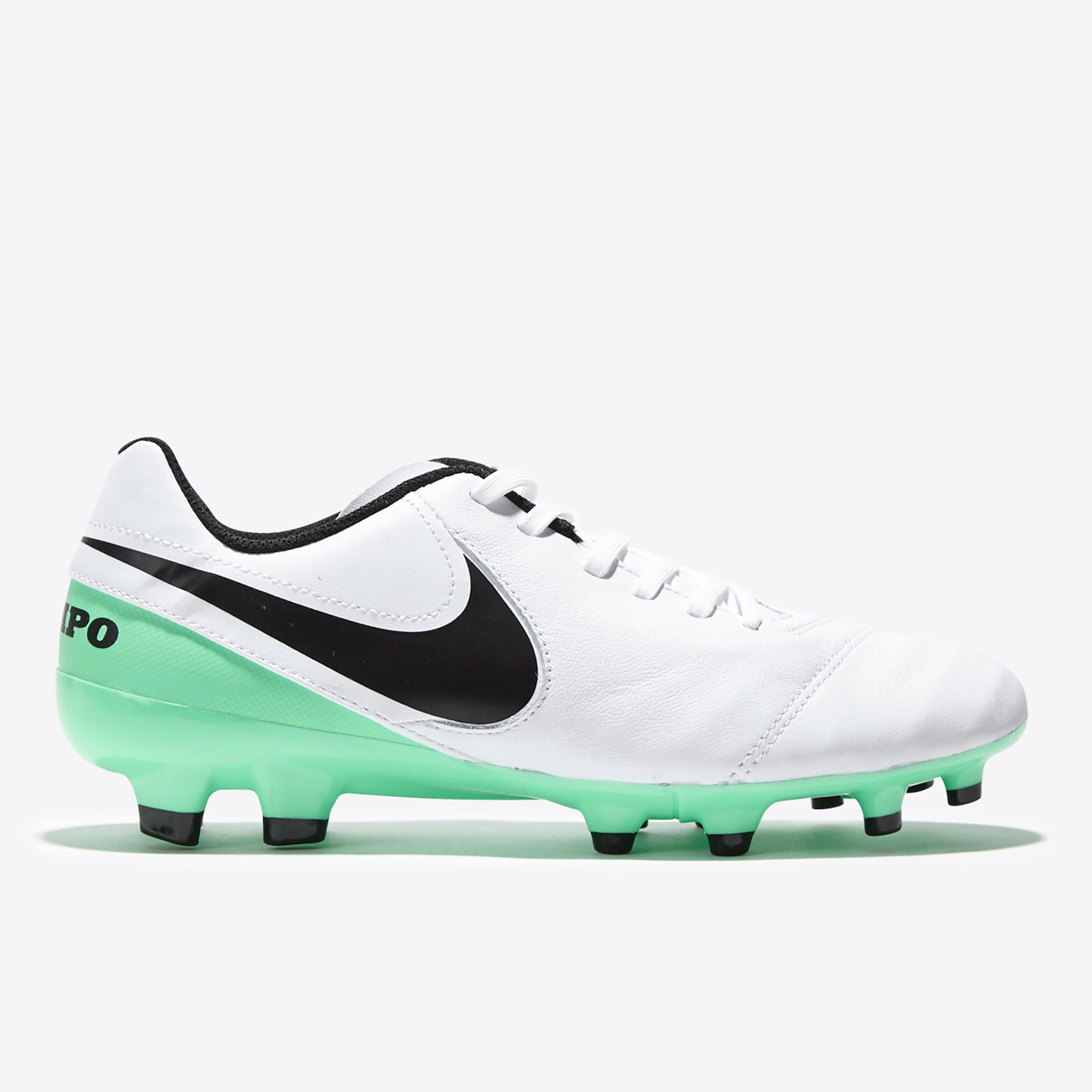 Nike Tiempo Legacy II Firm Ground Football Boots - White/Black/Electro