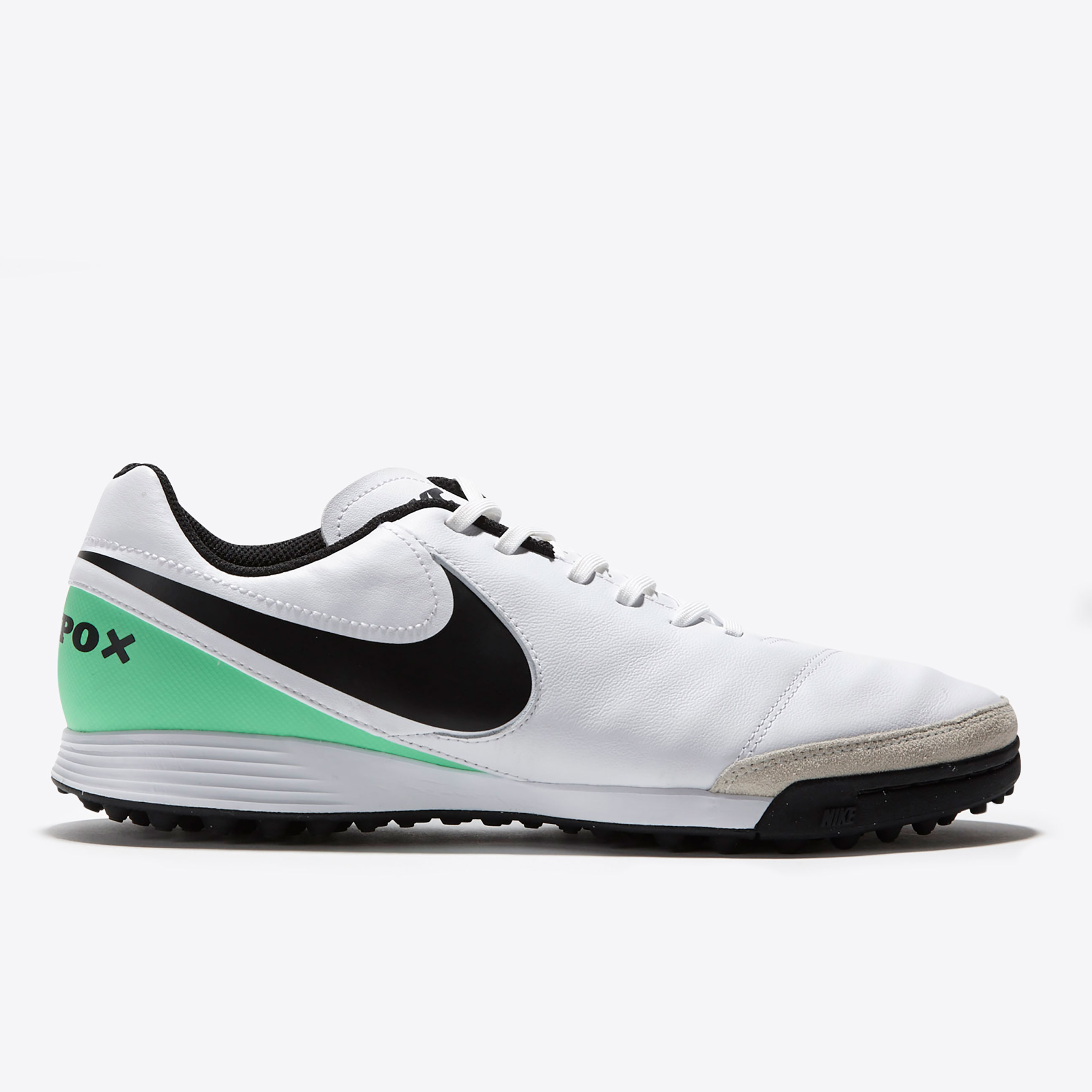 Nike Tiempo Genio II Leather Astroturf Trainers - White/Black/Electro