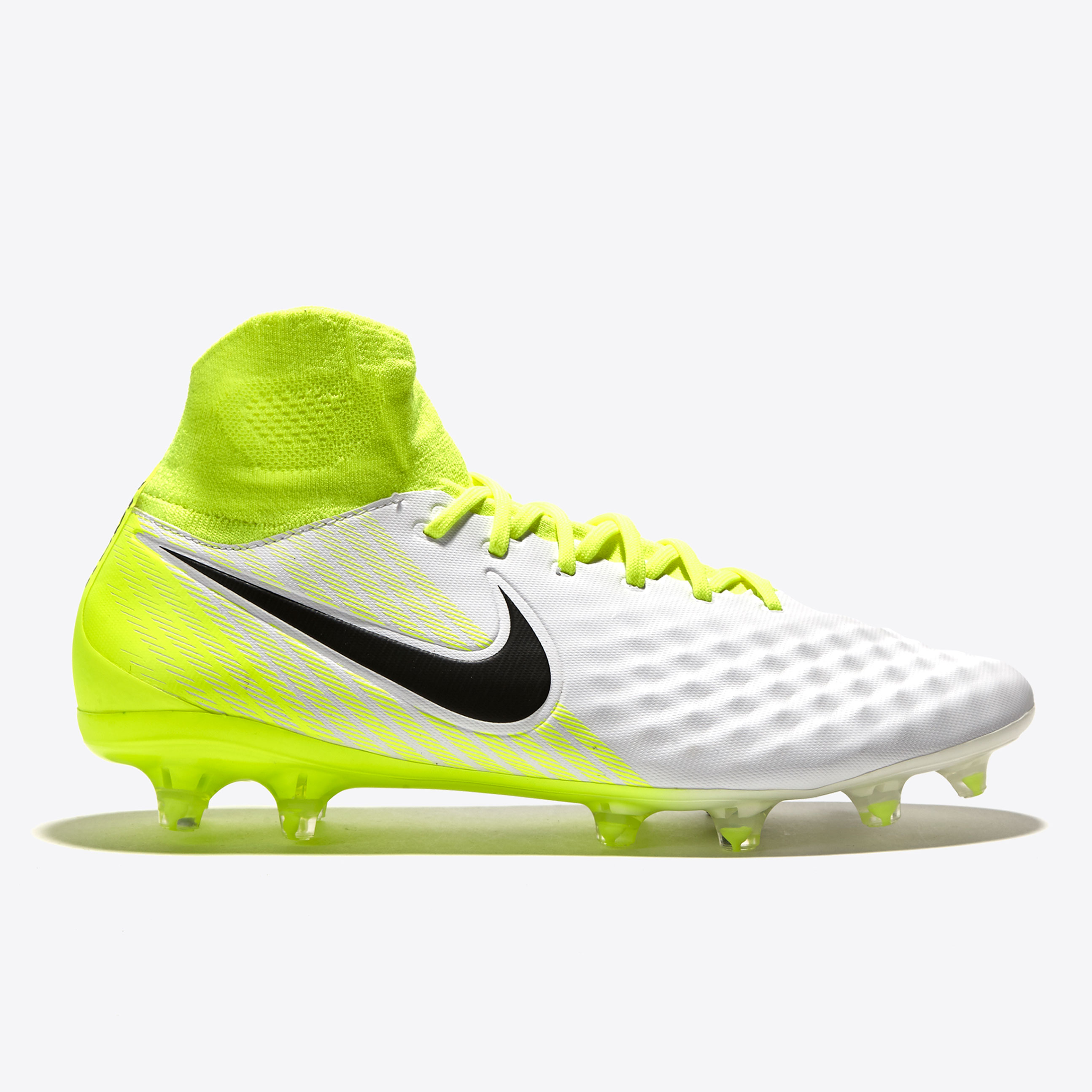 Nike Magista Orden II Firm Ground Football Boots - White/Black/Volt/Pu