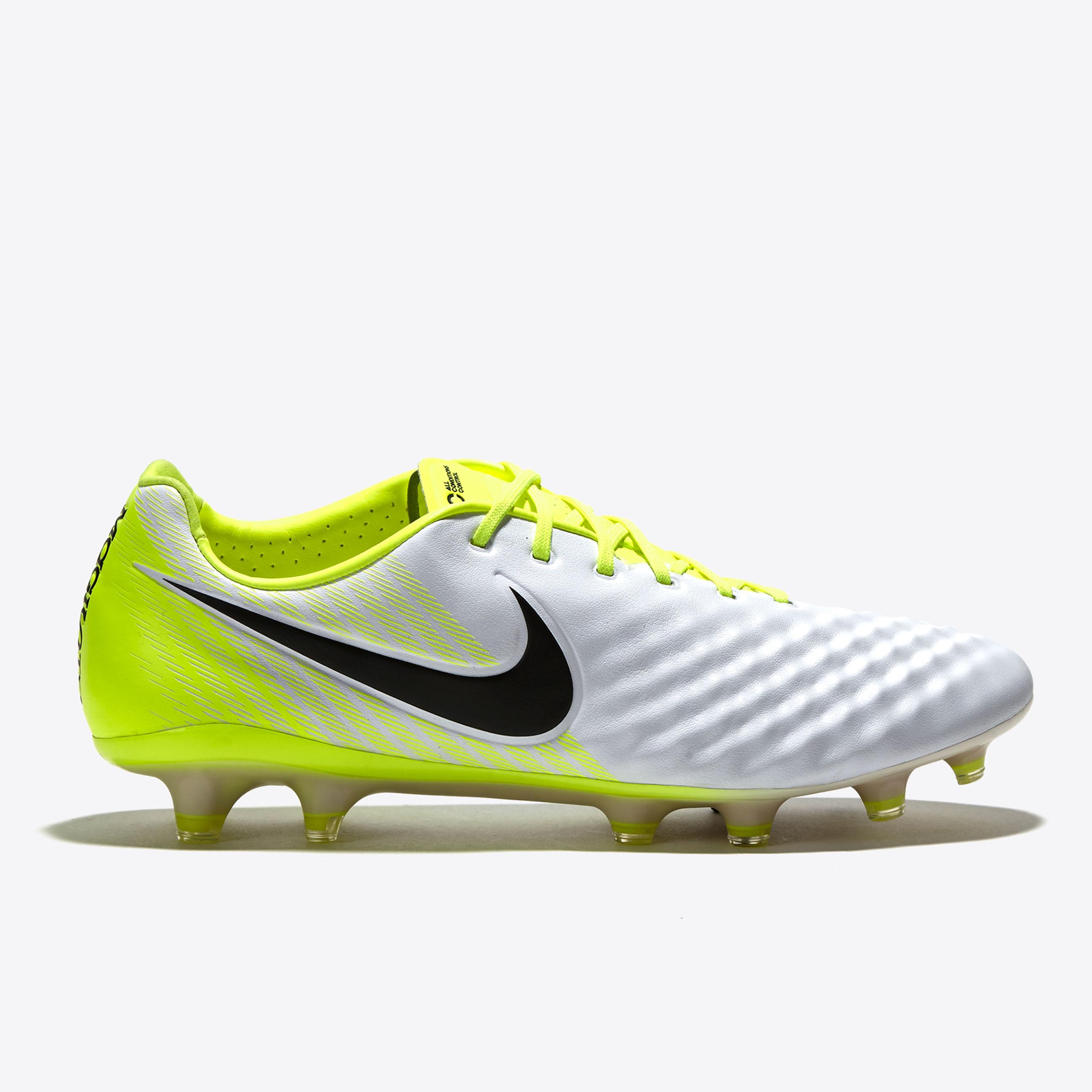 Nike Magista Opus II Firm Ground Football Boots - White/Black/Volt/Wol