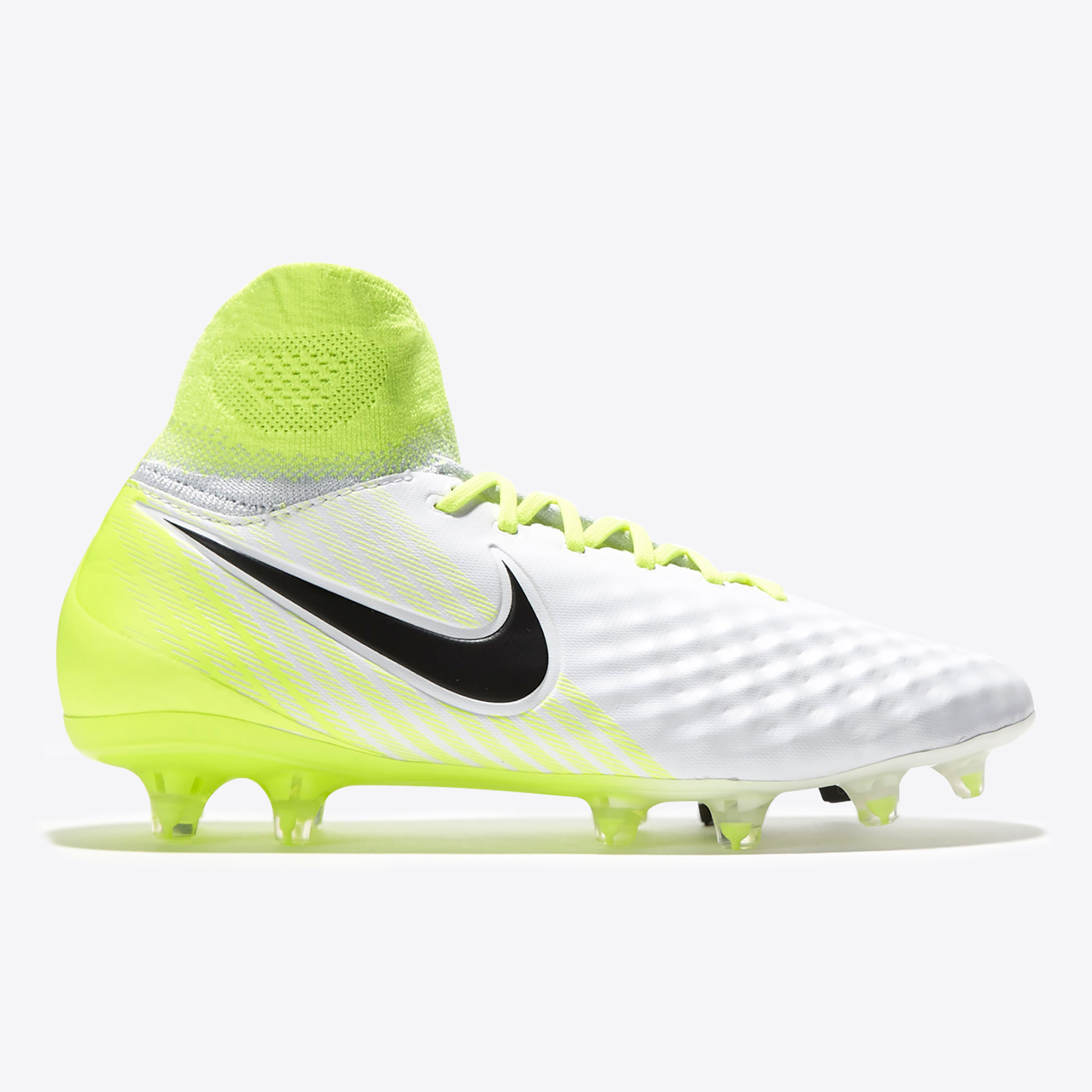 Nike Magista Obra II Firm Ground Football Boots - White/Black/Volt/Pur