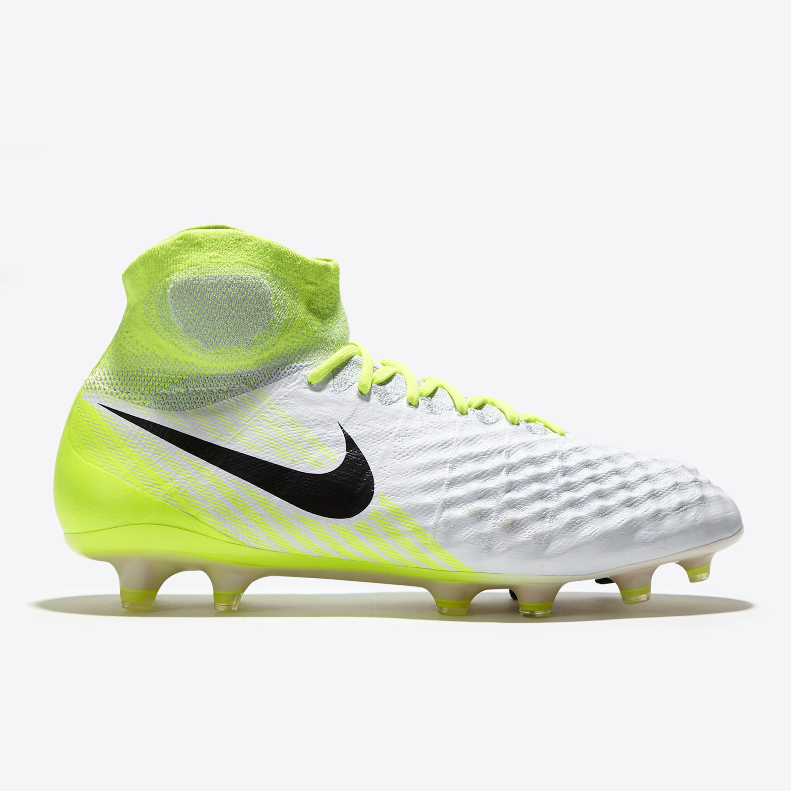 low priced 8fa2c 59a13 Nike Magista Obra II FG White Black Volt Pur