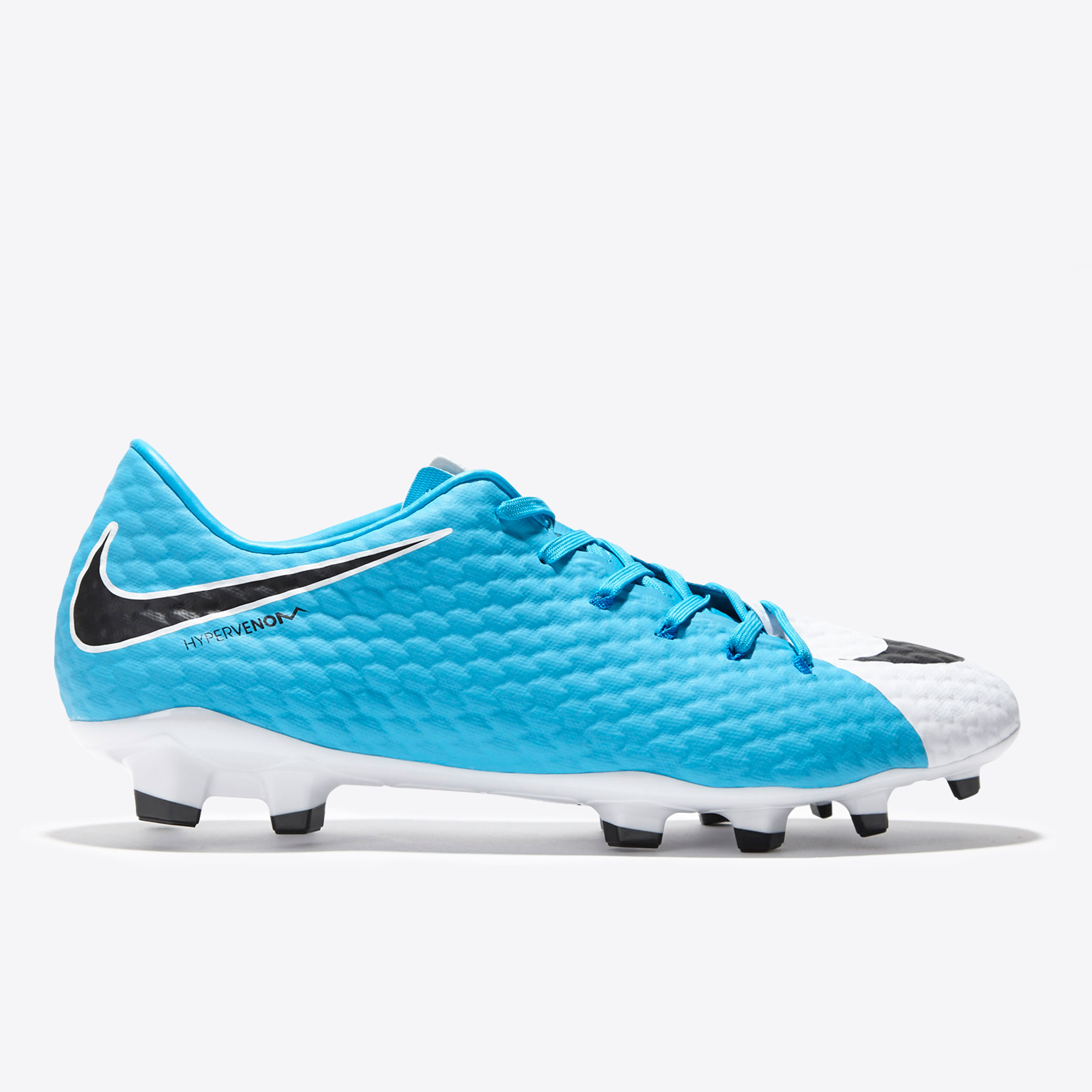 Nike Hypervenom Phelon III Firm Ground Football Boots - White/Black/Ph