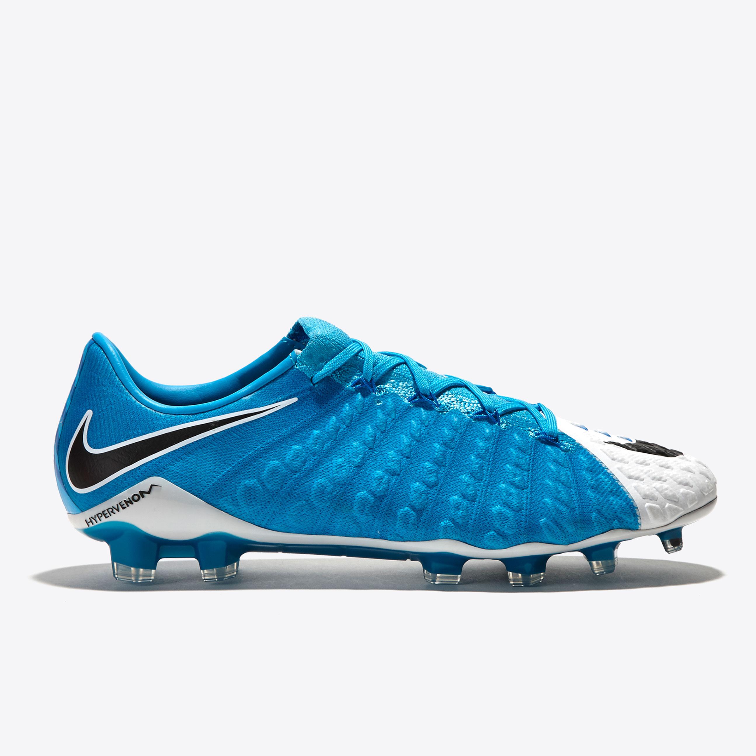 Nike Hypervenom Phantom III Firm Ground Football Boots - White/Black/P