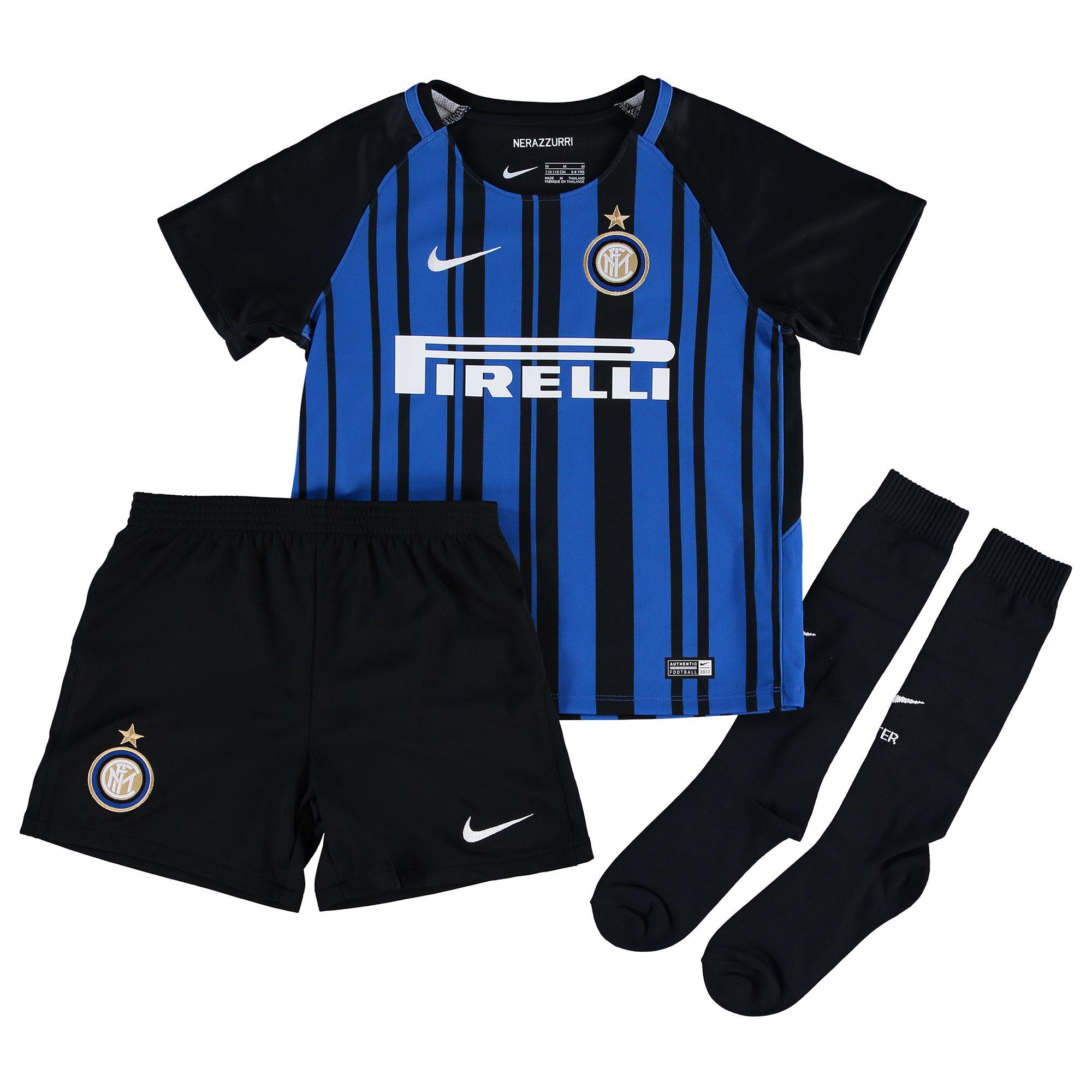 best sneakers 85c5f 31bdc Nike Inter Milan Kids SS Home Mini Kit 2017/18