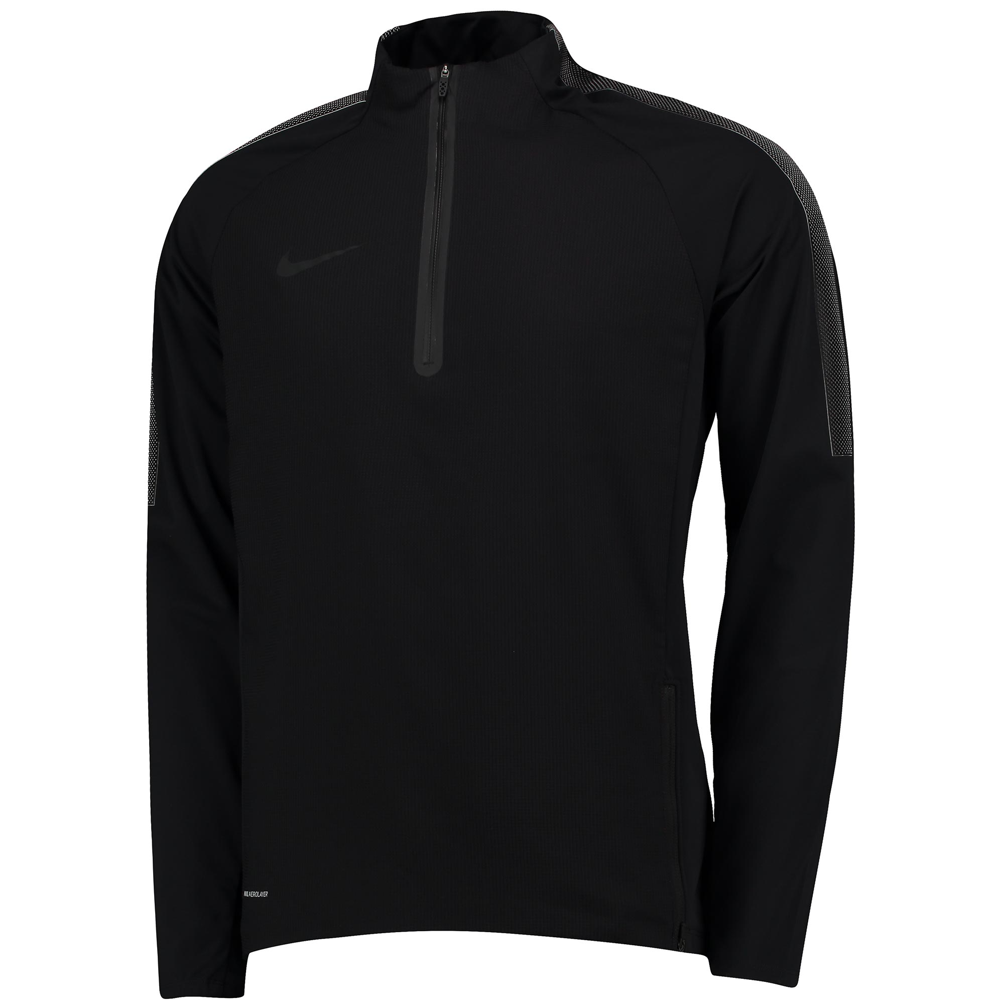 Nike Aerolayer Repel Strike Drill Top - Black/White/Black