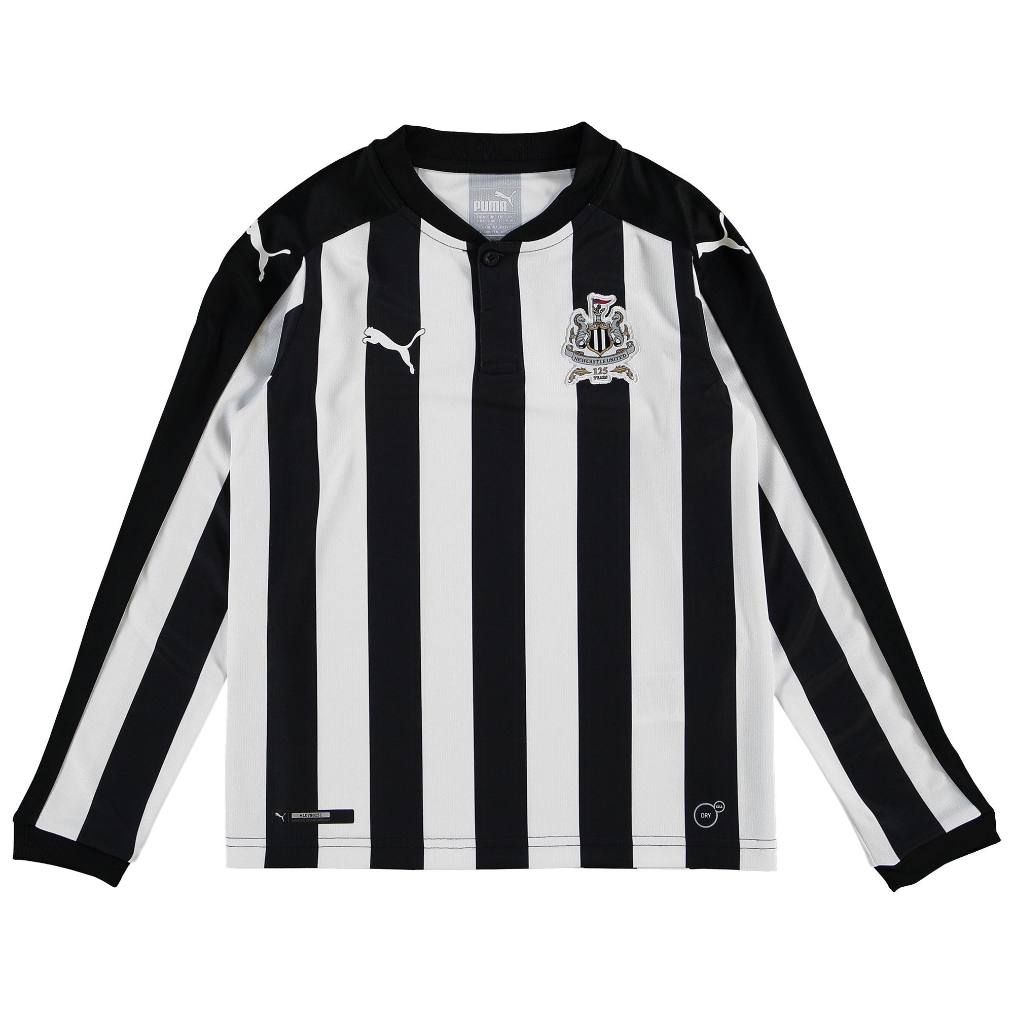 Newcastle United Home Shirt 2017-18 - Kids - Long Sleeve