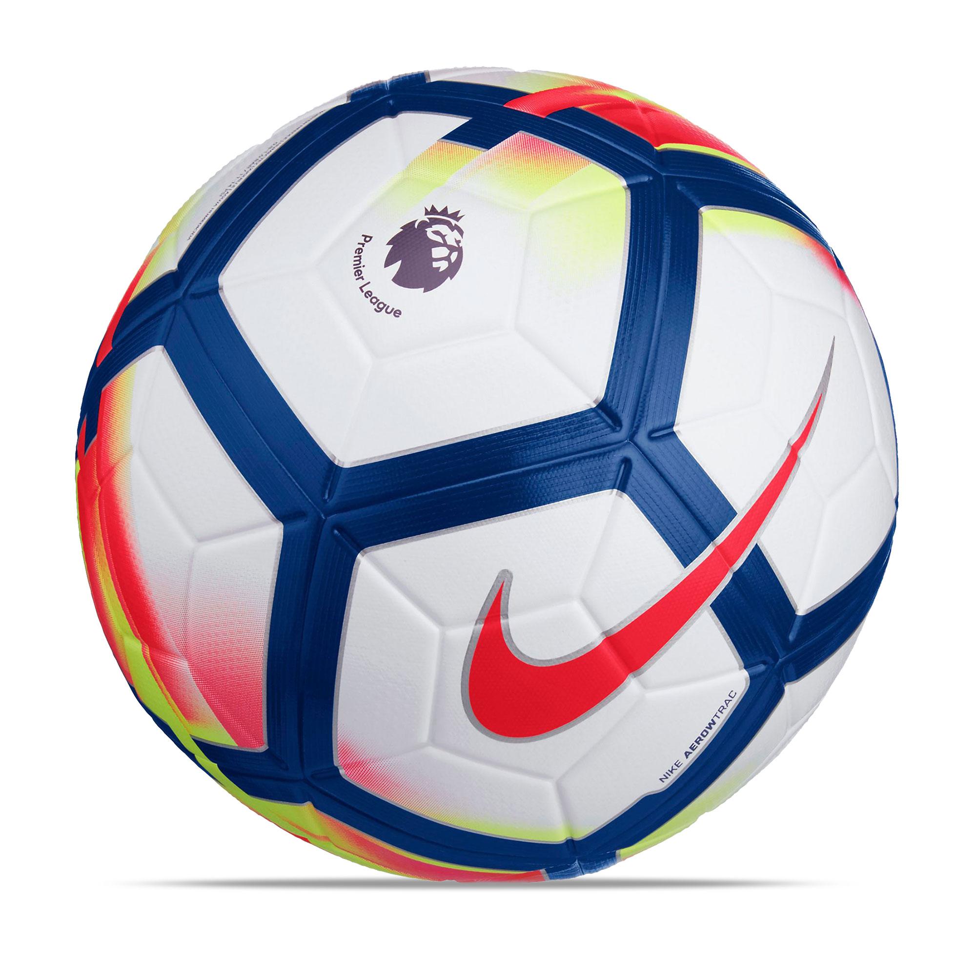 Nike Premier League Ordem V Official Match Football - White/Crimson/De