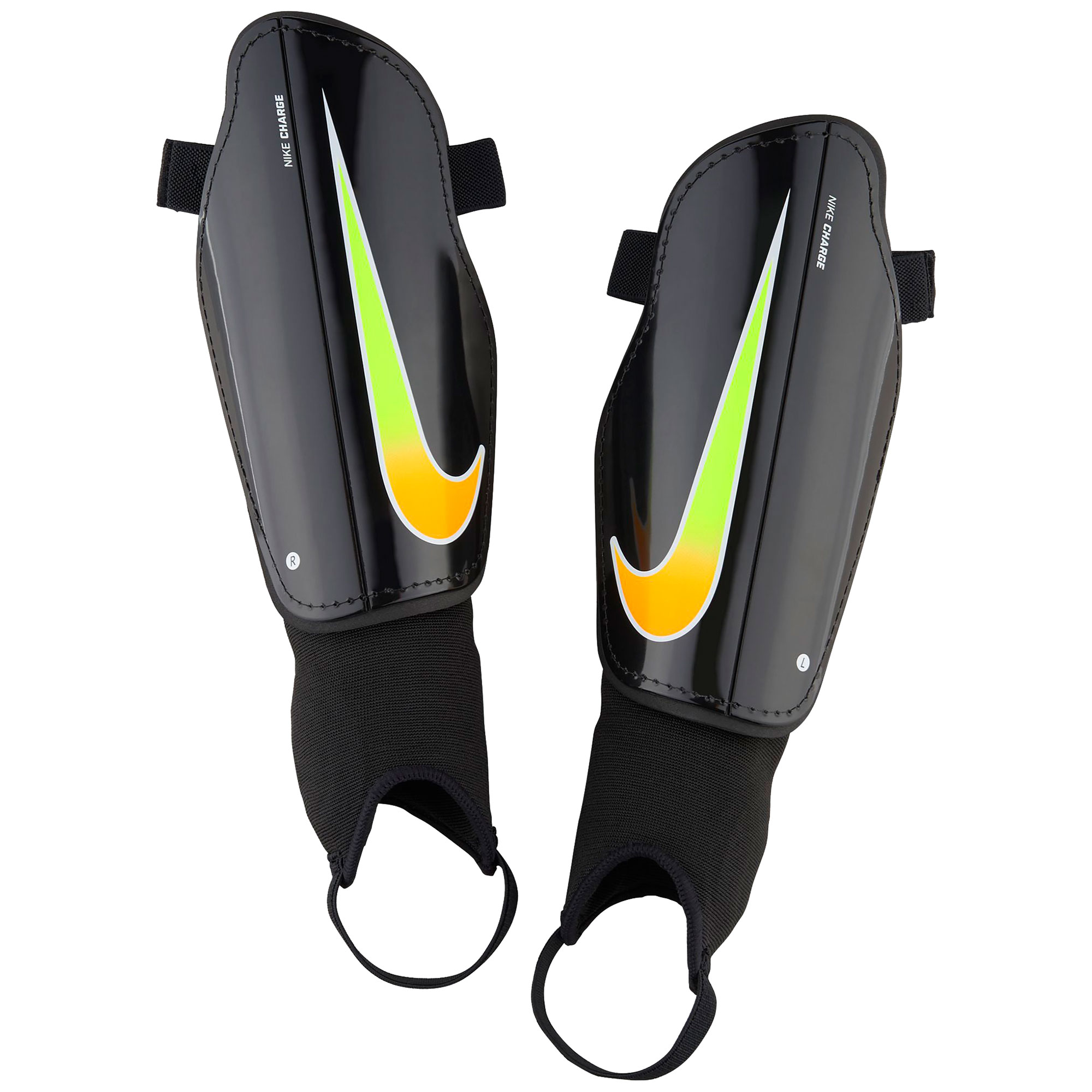 Nike Charge Football Shinguards - Black/Laser Orange