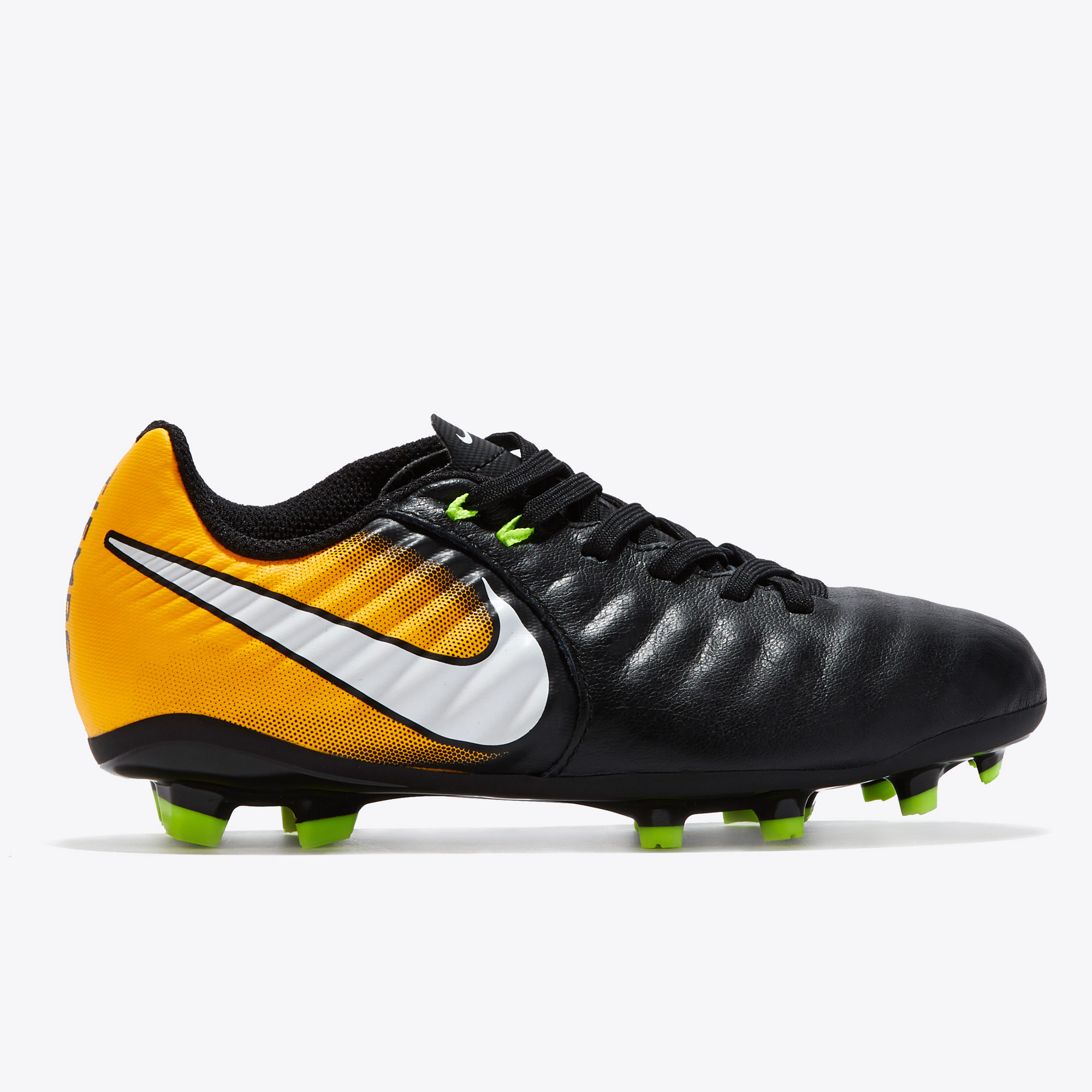 Nike Tiempo Ligera IV Firm Ground Football Boots - Black/White/Laser O