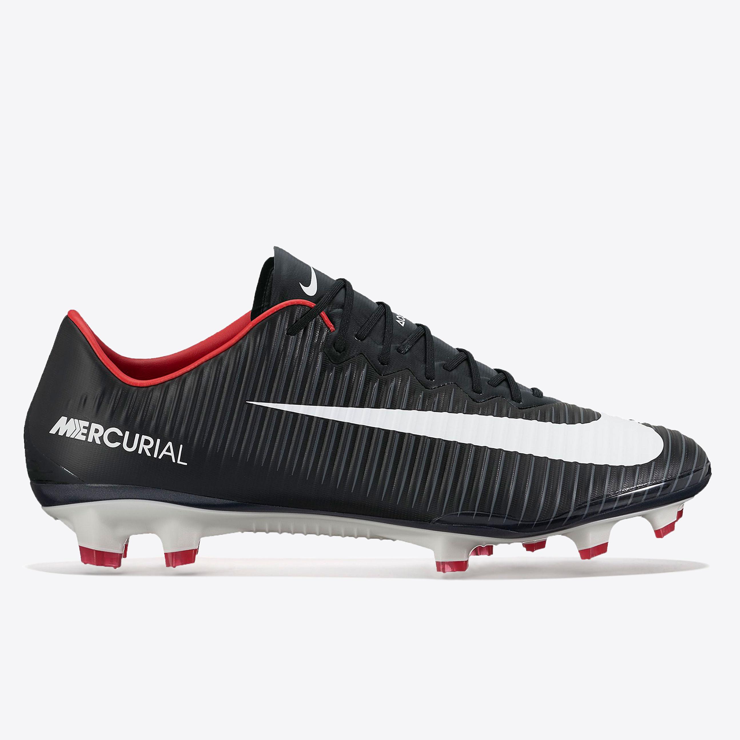 Nike Mercurial Vapor XI Firm Ground Football Boots - Black/White/Dark