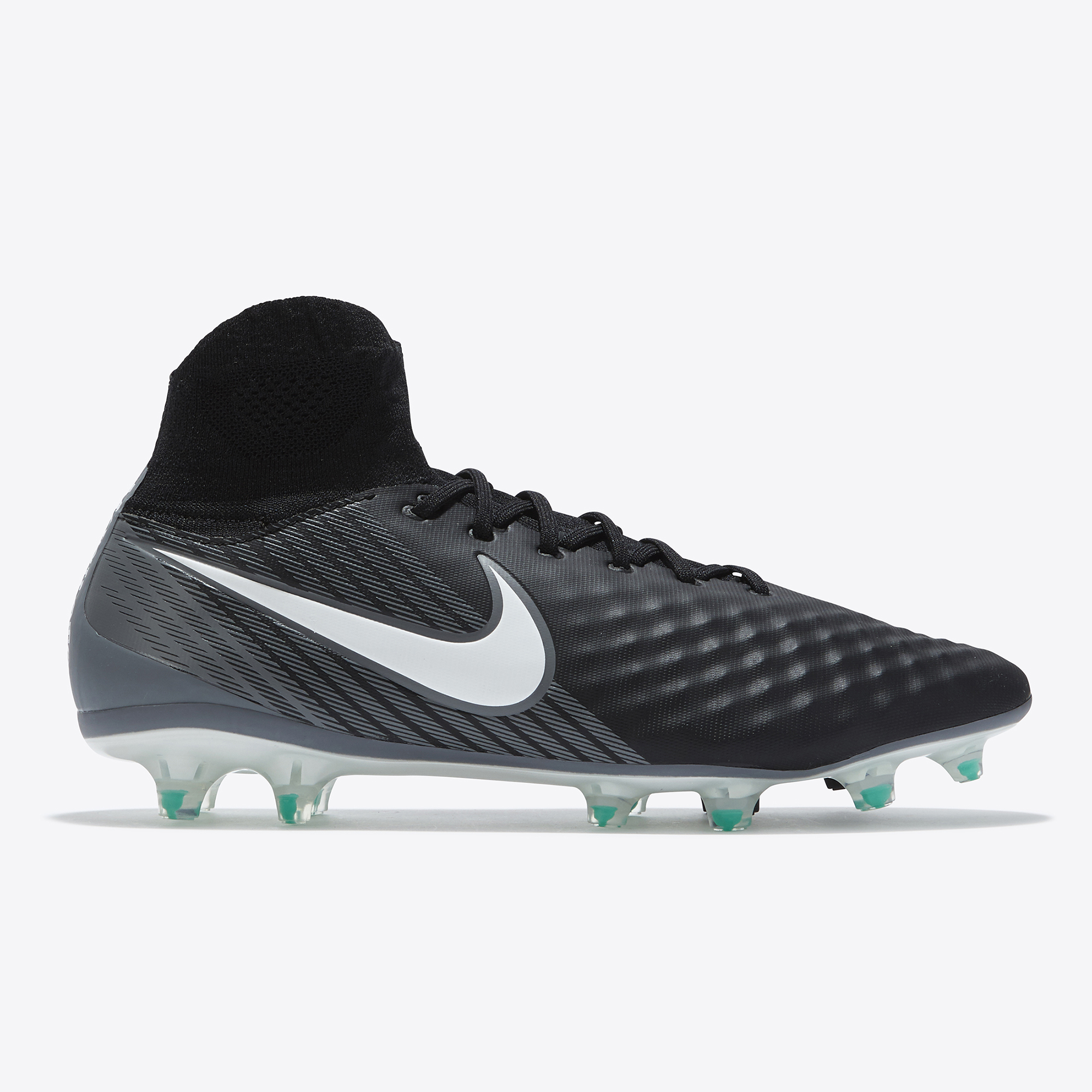 Nike Magista Orden II Firm Ground Football Boots - Black/White/Dark Gr