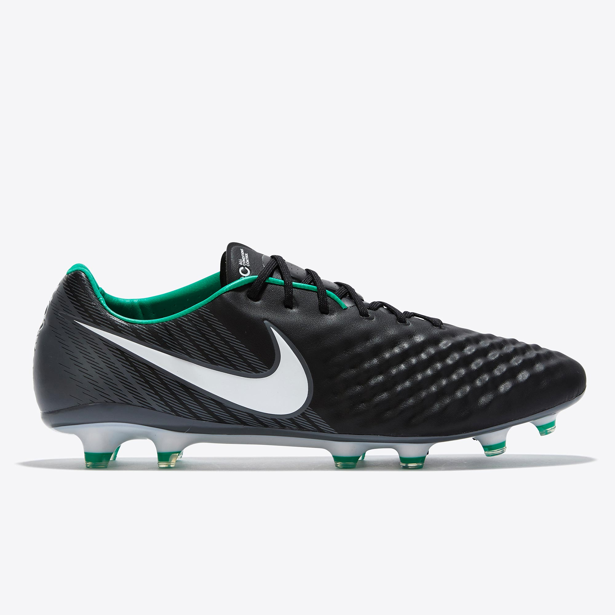 Nike Magista Opus II Firm Ground Football Boots - Black/White/Dark Gre