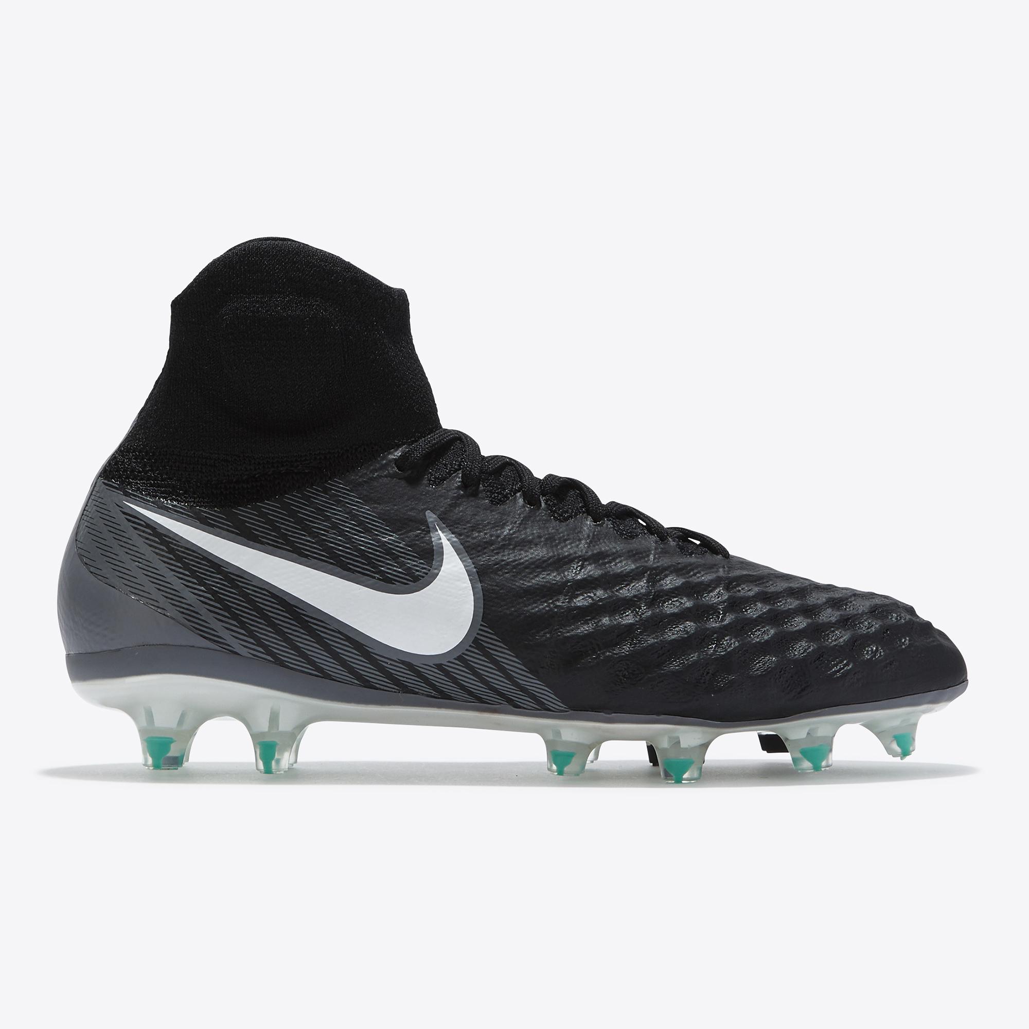 Nike Magista Obra II Firm Ground Football Boots - Black/White/Dark Gre