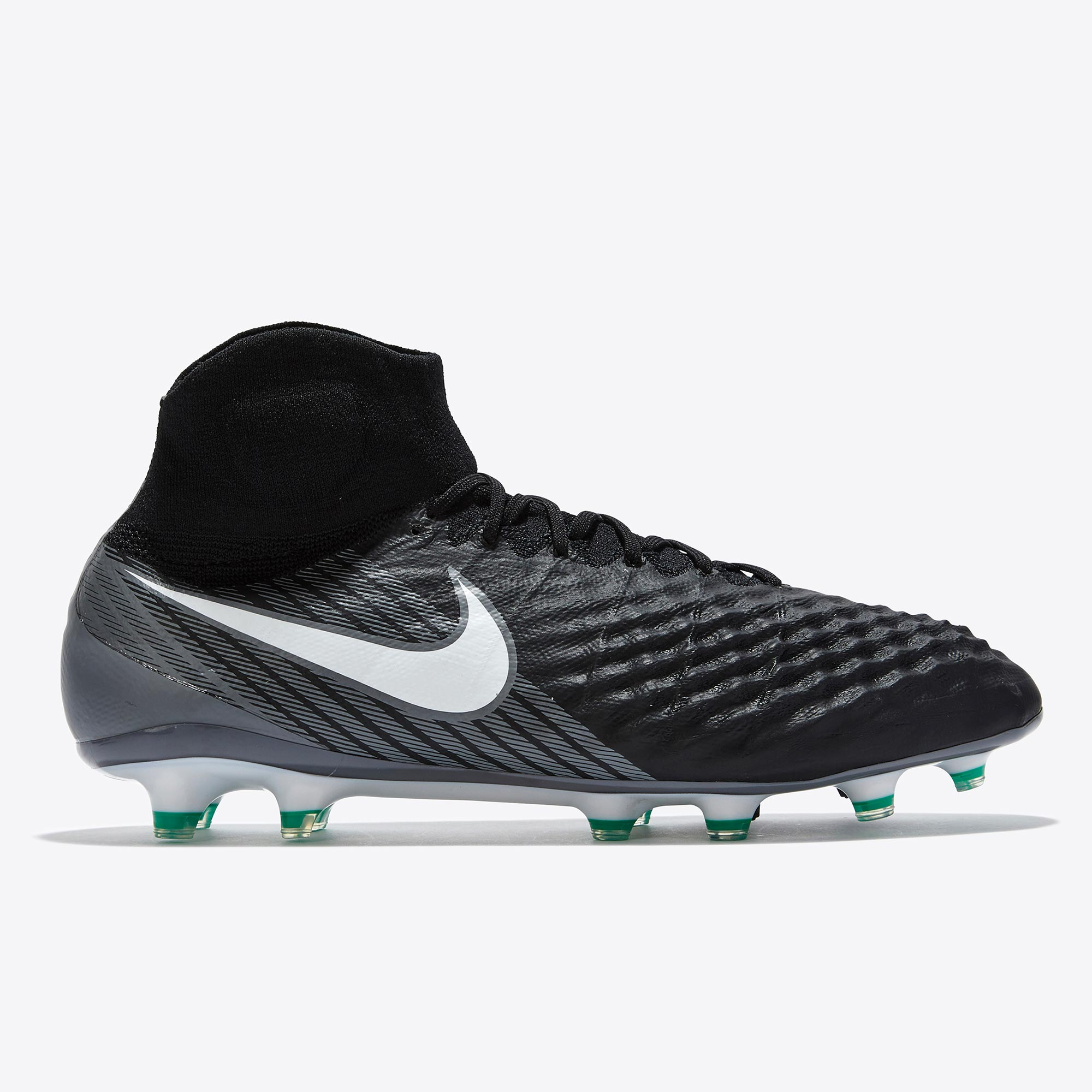 Nike Magista Obra II Firm Ground Football Boots - Black/White/Dark Gre