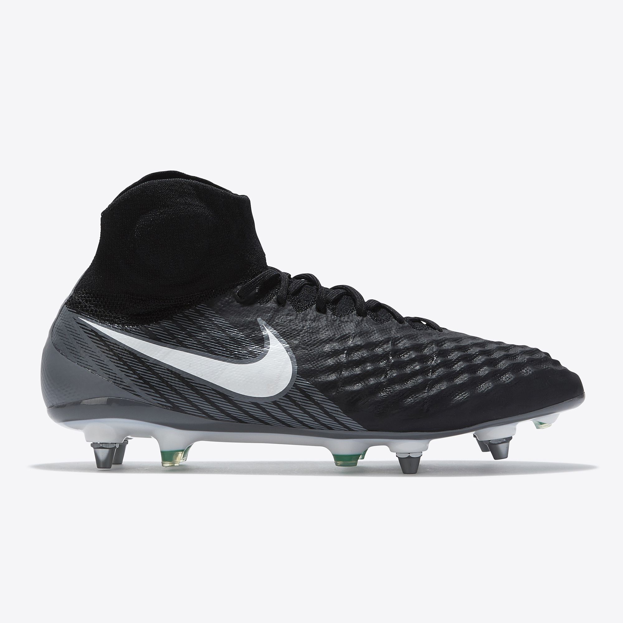 Nike Magista Obra II Soft Ground Football Boots - Black/White/Dark Gre