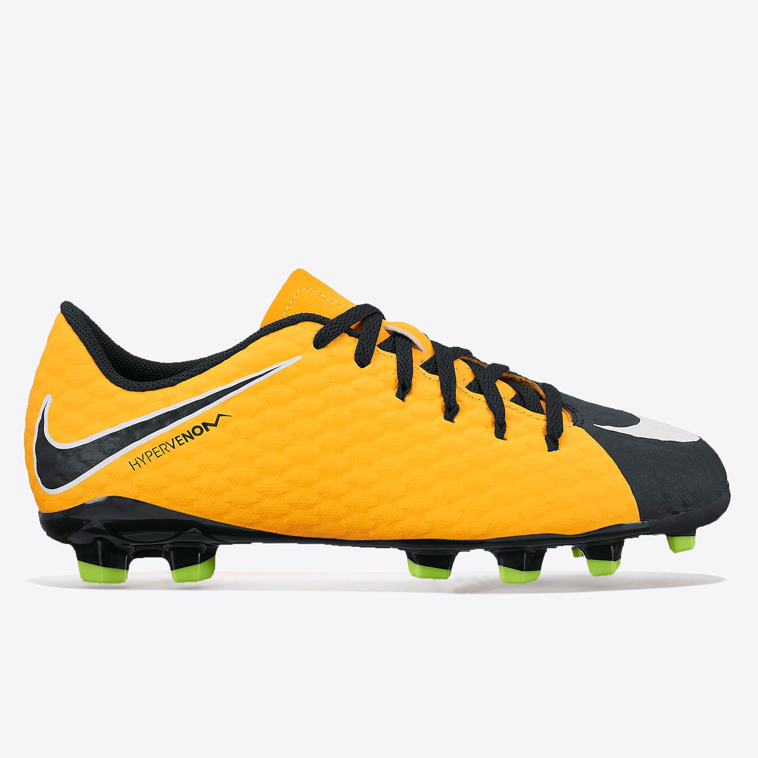 Nike Hypervenom Phelon III Firm Ground Football Boots - Laser Orange/B