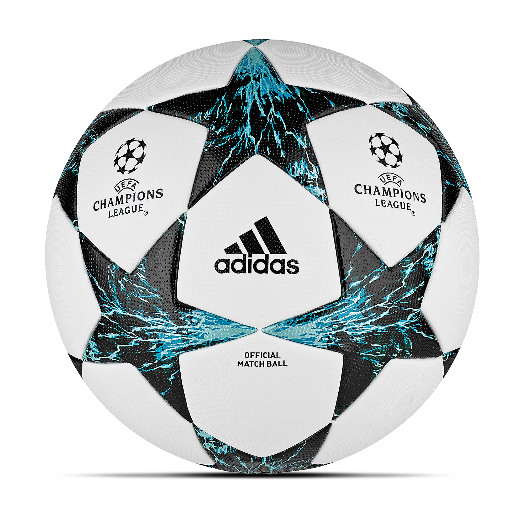 Image of adidas UEFA Champions League Finale 17 Official Match Football - White/Core Black/Dark Green - Size 5