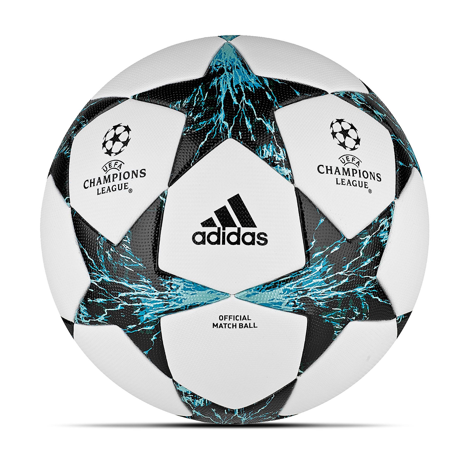 Ballon de football officiel Adidas UEFA Champions League Finale17 - Blanc/Noir profond/Vert foncé - Taille5