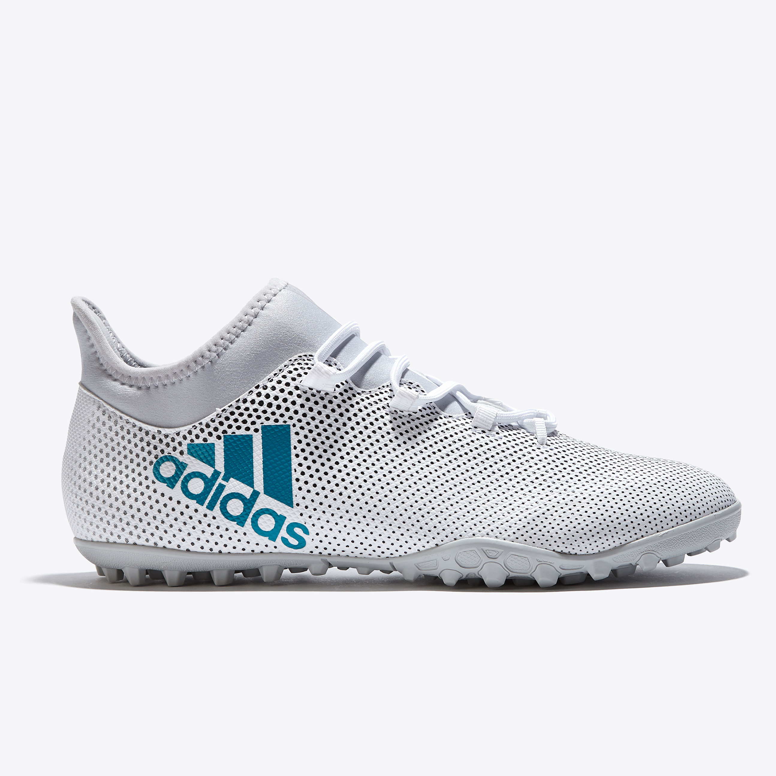 adidas X Tango 17.3 Astroturf Trainers - White/Energy Blue/Clear Grey