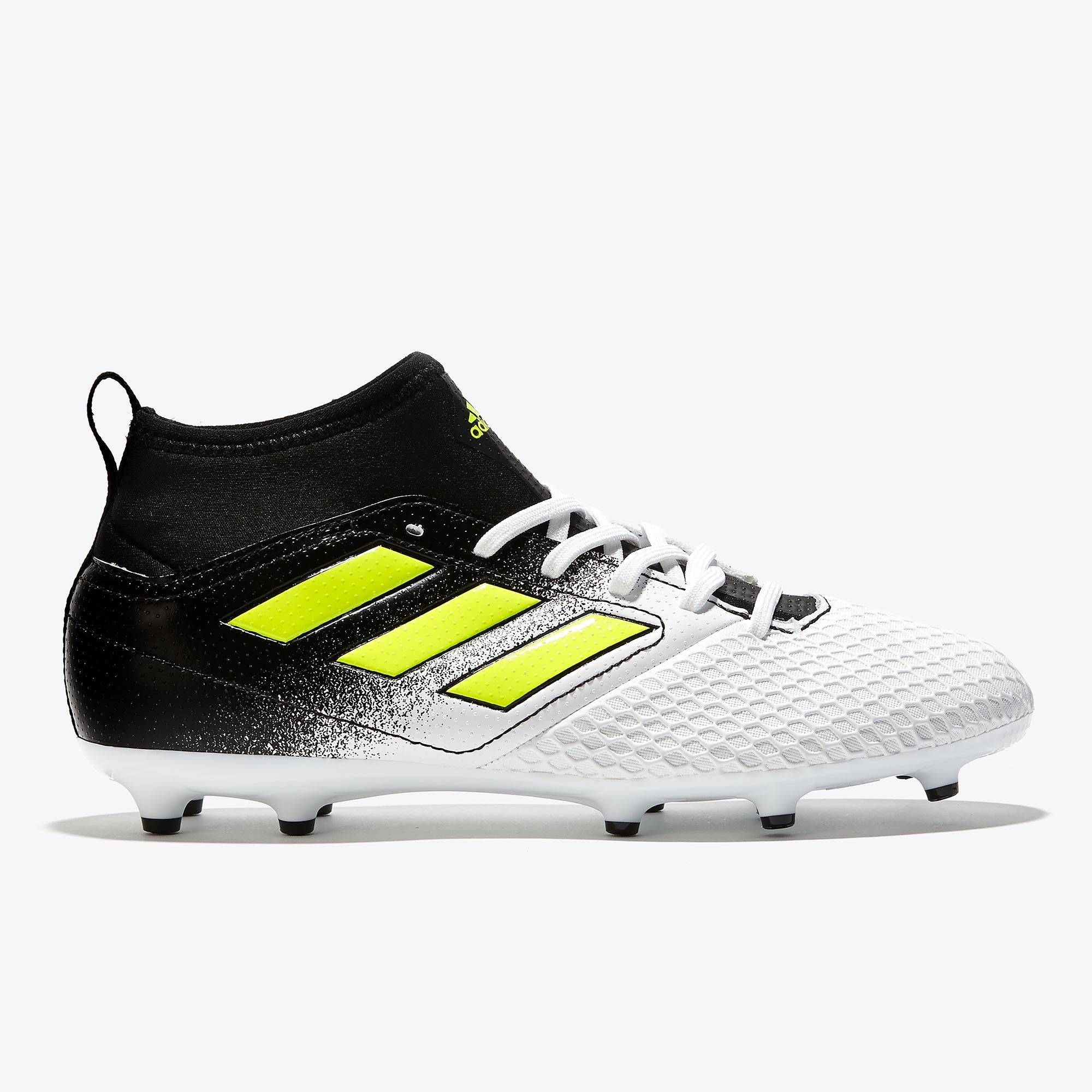 adidas Ace 17.3 Firm Ground Football Boots - White/Solar Yellow/Core B