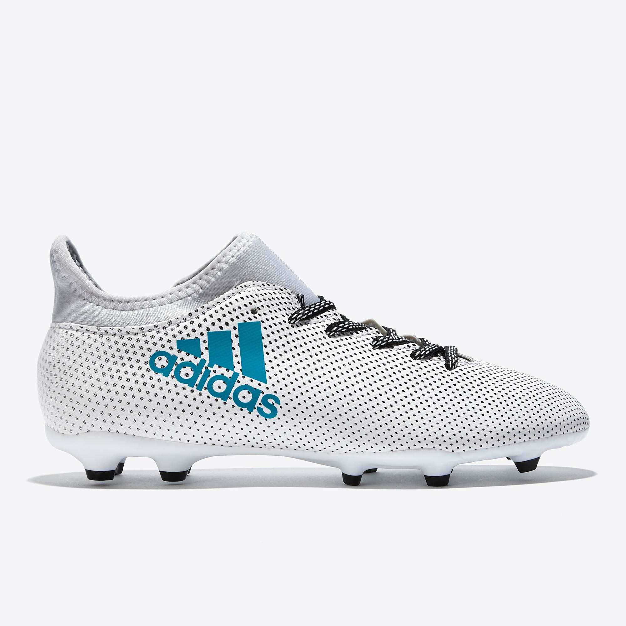 adidas X 17.3 Firm Ground Football Boots - White/Energy Blue/Clear Gre