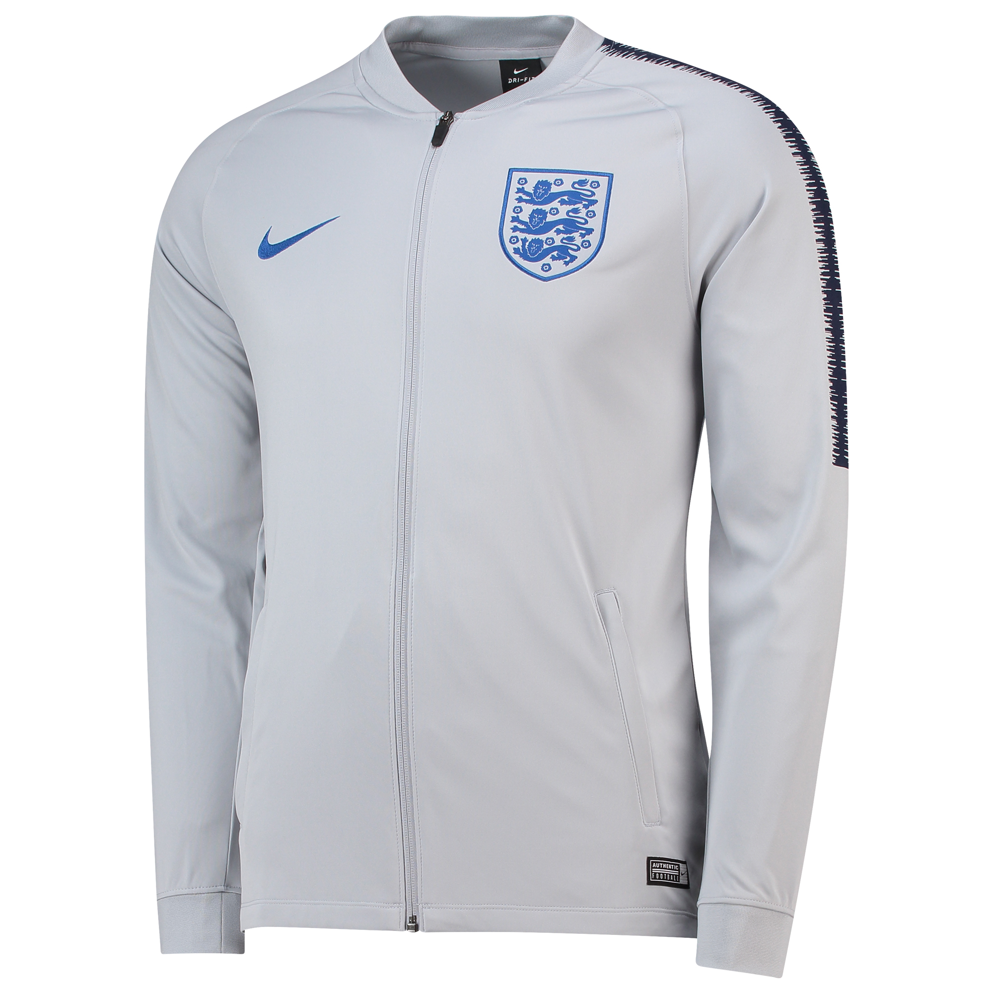Nike England Dri FIT Squad Men's Track Jacket Grey