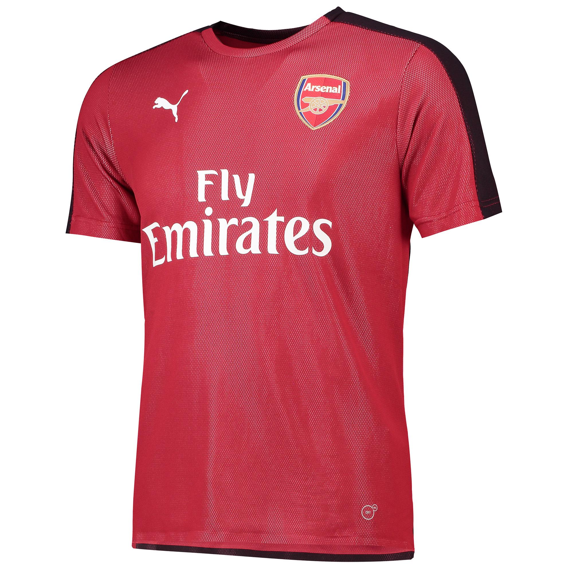 Camiseta Stadium de entrenamiento del Arsenal en rojo