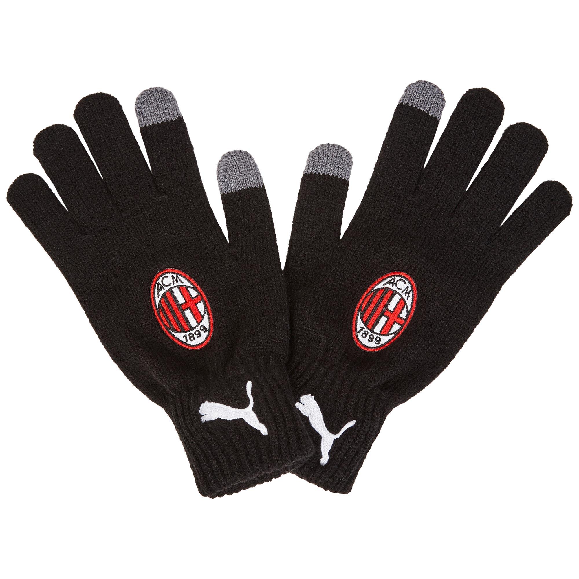 AC Milan Knitted Gloves - Black