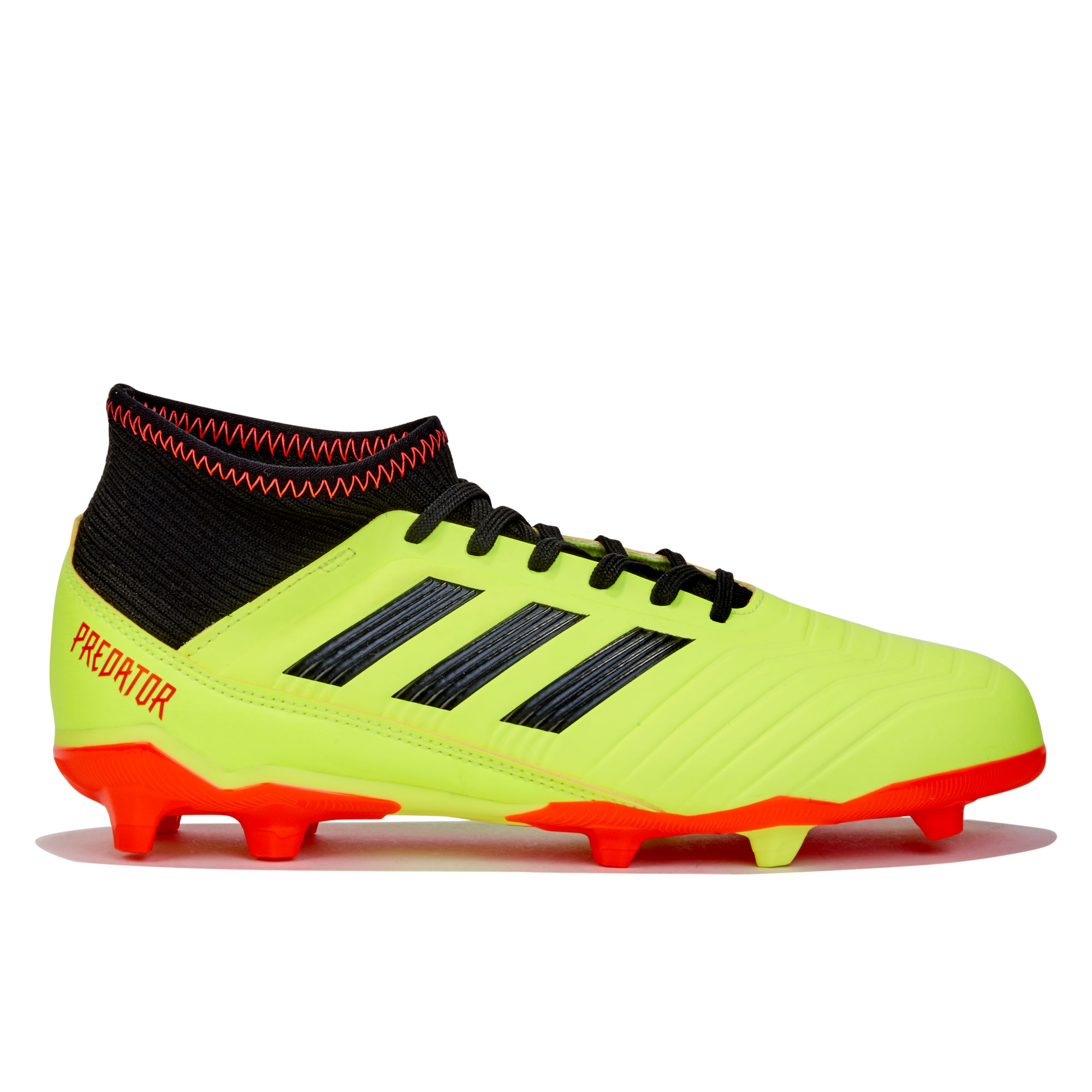 Image of adidas Predator 18.3 Firm Ground Football Boots - Yellow - Kids