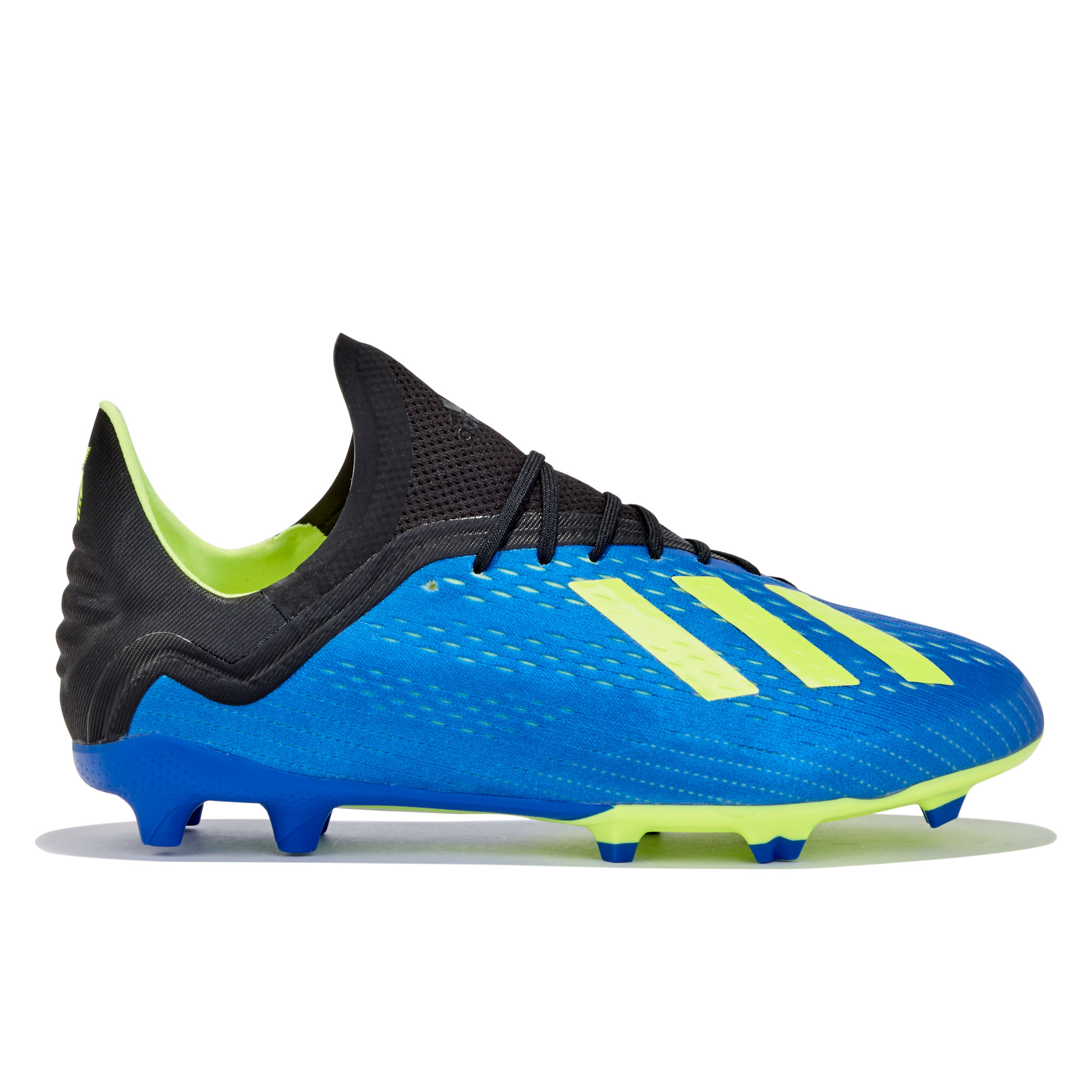 Image of adidas X 18.1 Firm Ground Football Boots - Blue - Kids
