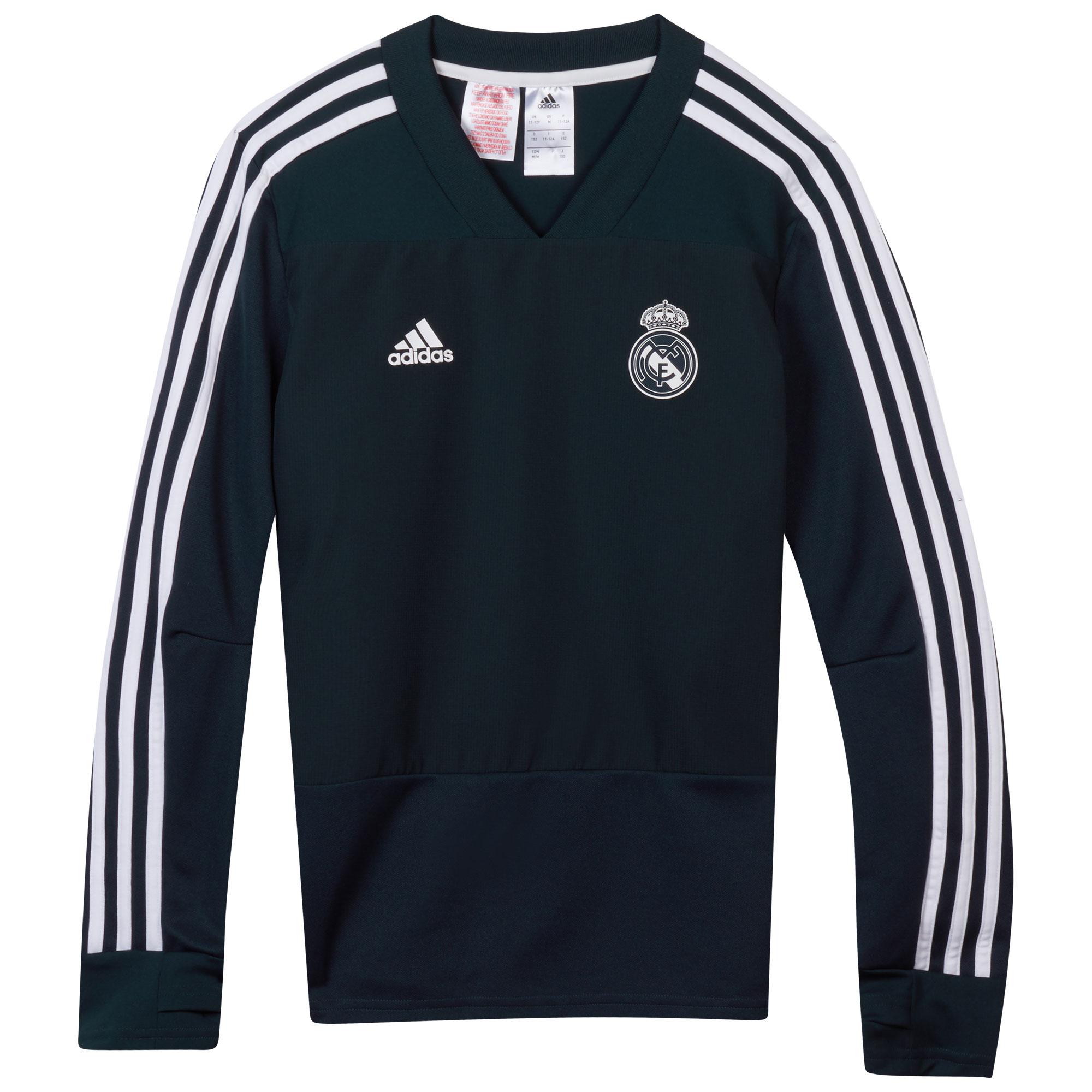 Sudadera de entrenamiento del Real Madrid en gris oscuro para niños